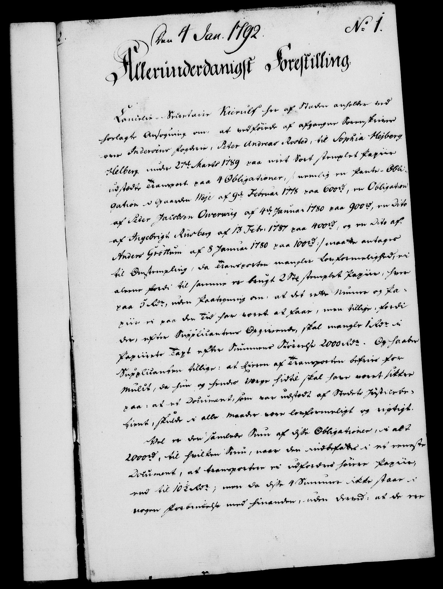 RA, Rentekammeret, Kammerkanselliet, G/Gf/Gfa/L0074: Norsk relasjons- og resolusjonsprotokoll (merket RK 52.74), 1792, s. 27