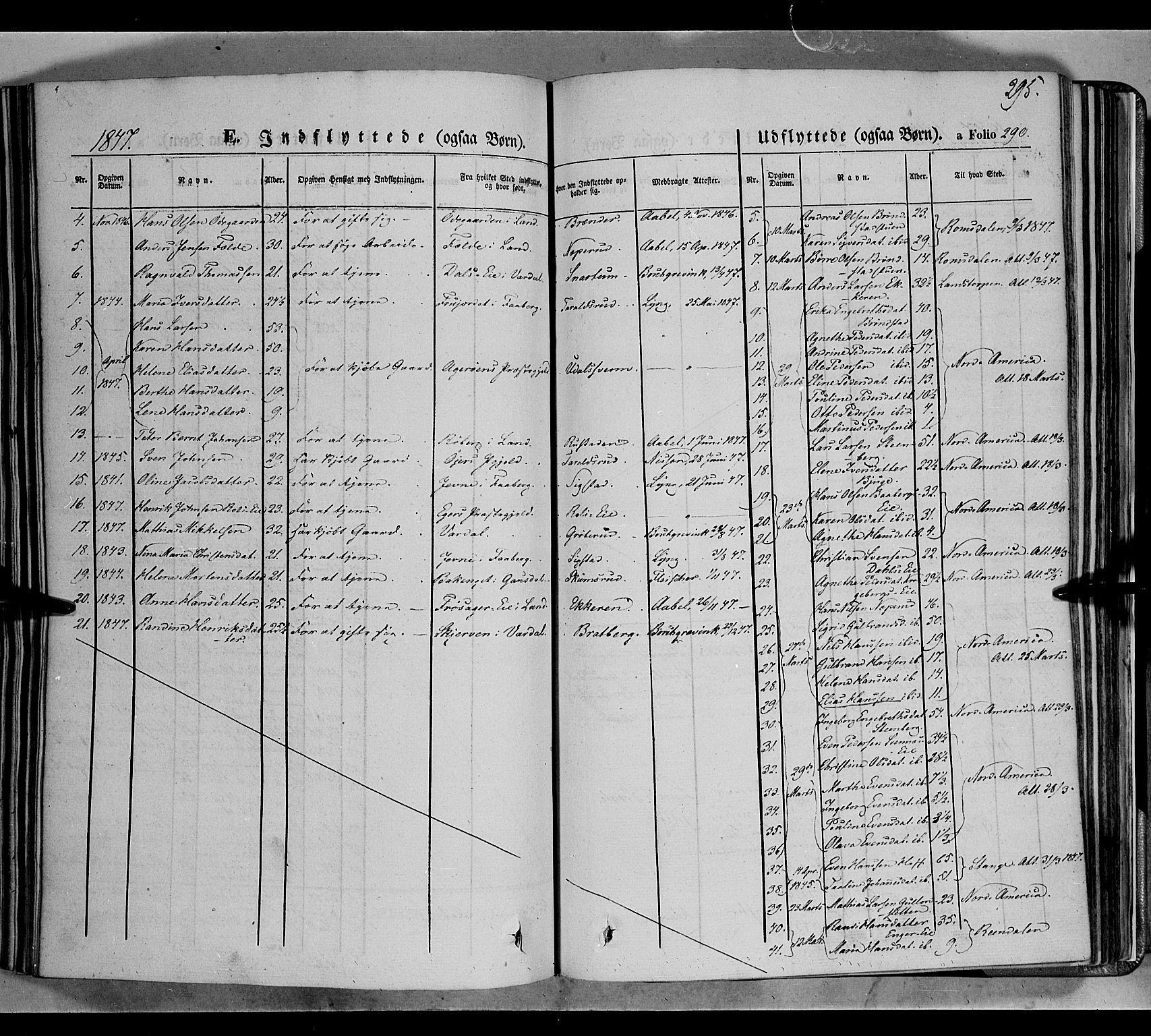 SAH, Biri prestekontor, Ministerialbok nr. 5, 1843-1854, s. 295