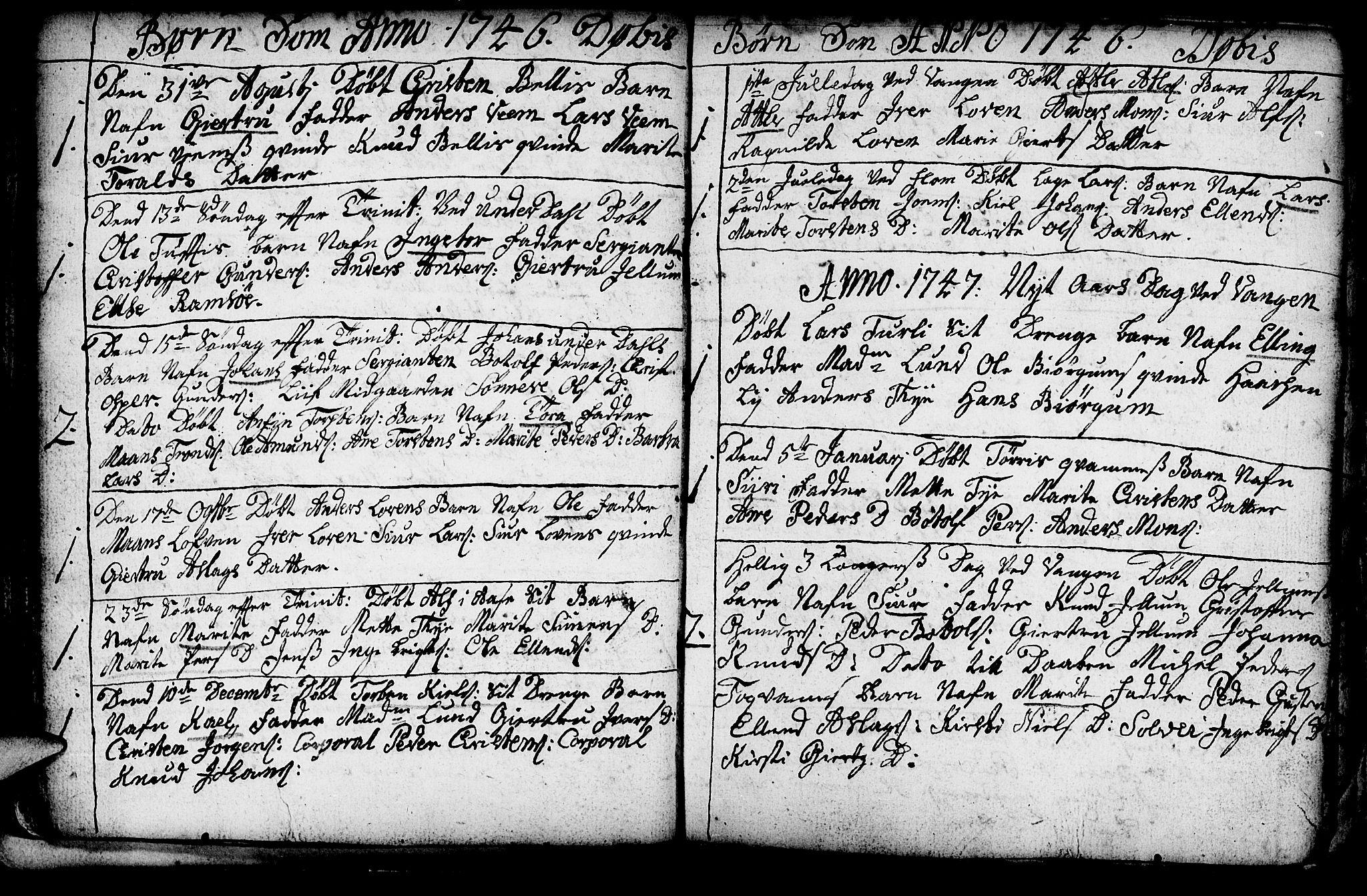 SAB, Aurland Sokneprestembete*, Ministerialbok nr. A 3, 1735-1761, s. 47
