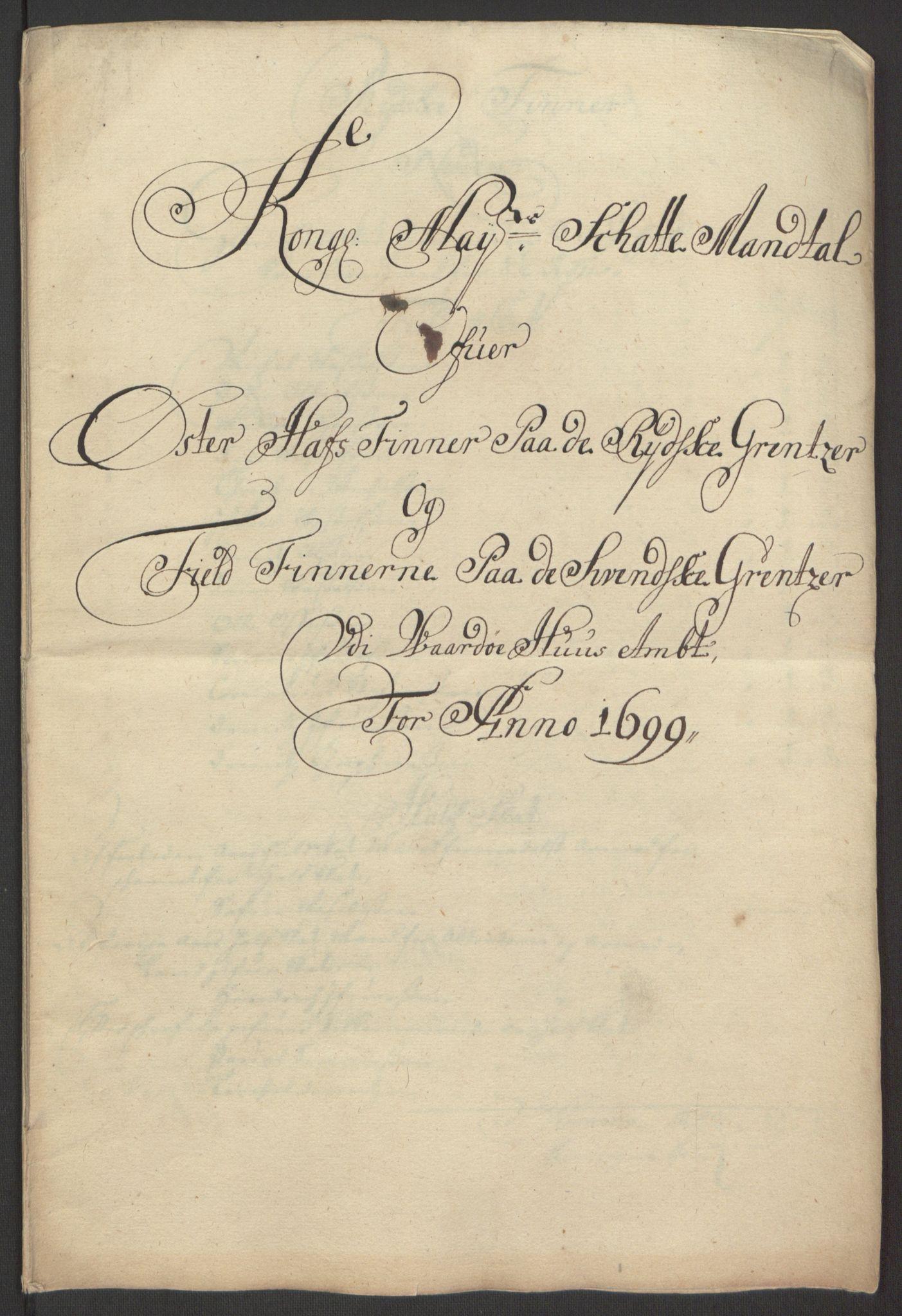 RA, Rentekammeret inntil 1814, Reviderte regnskaper, Fogderegnskap, R69/L4851: Fogderegnskap Finnmark/Vardøhus, 1691-1700, s. 381