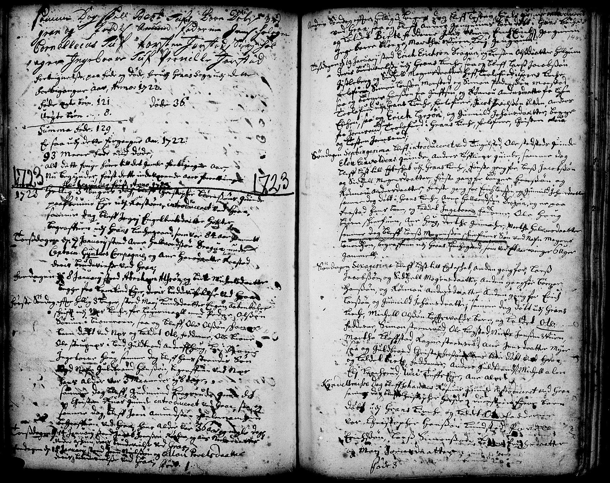SAH, Gran prestekontor, Ministerialbok nr. 1, 1707-1731, s. 146