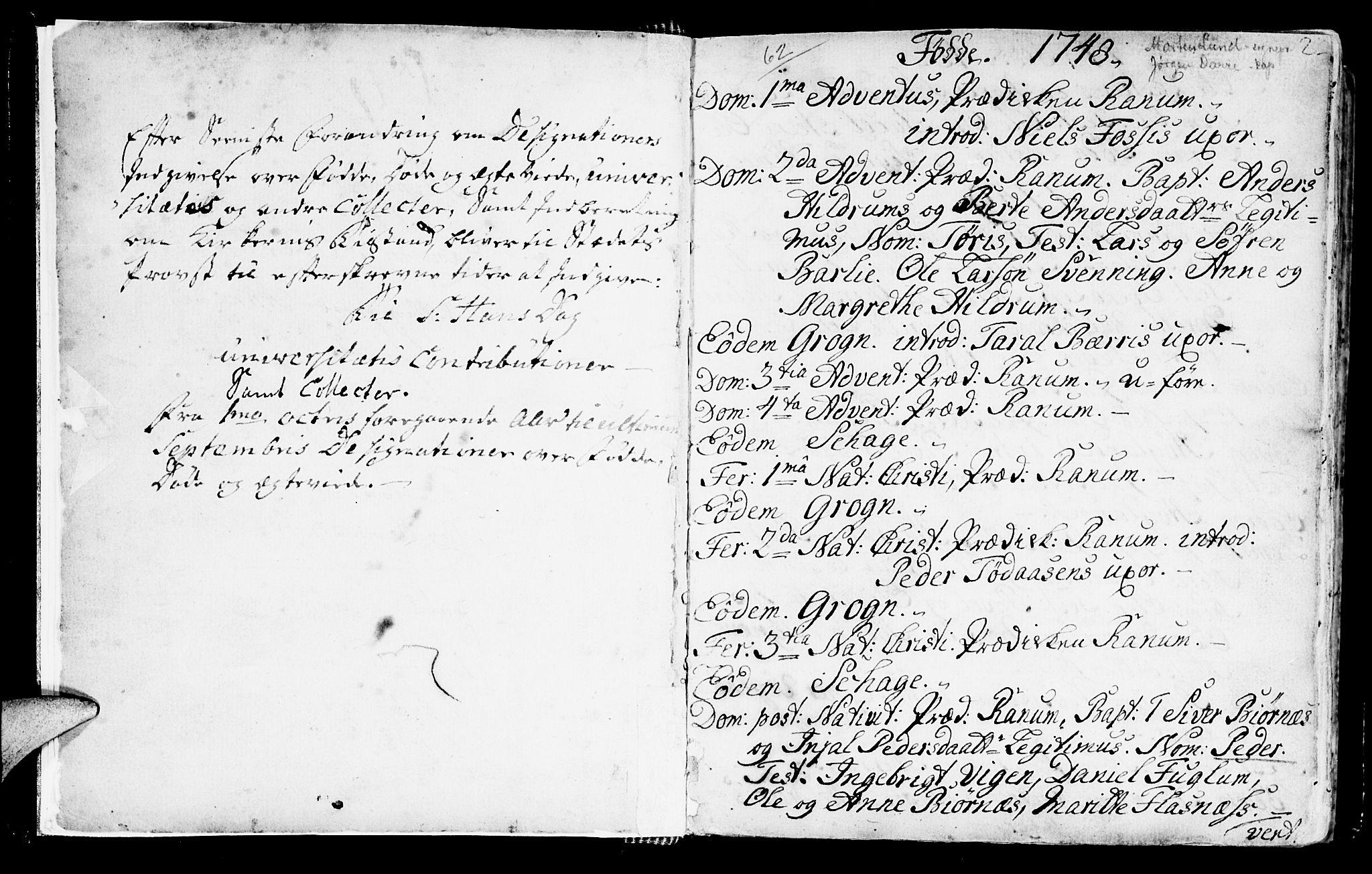 SAT, Ministerialprotokoller, klokkerbøker og fødselsregistre - Nord-Trøndelag, 764/L0542: Ministerialbok nr. 764A02, 1748-1779, s. 2