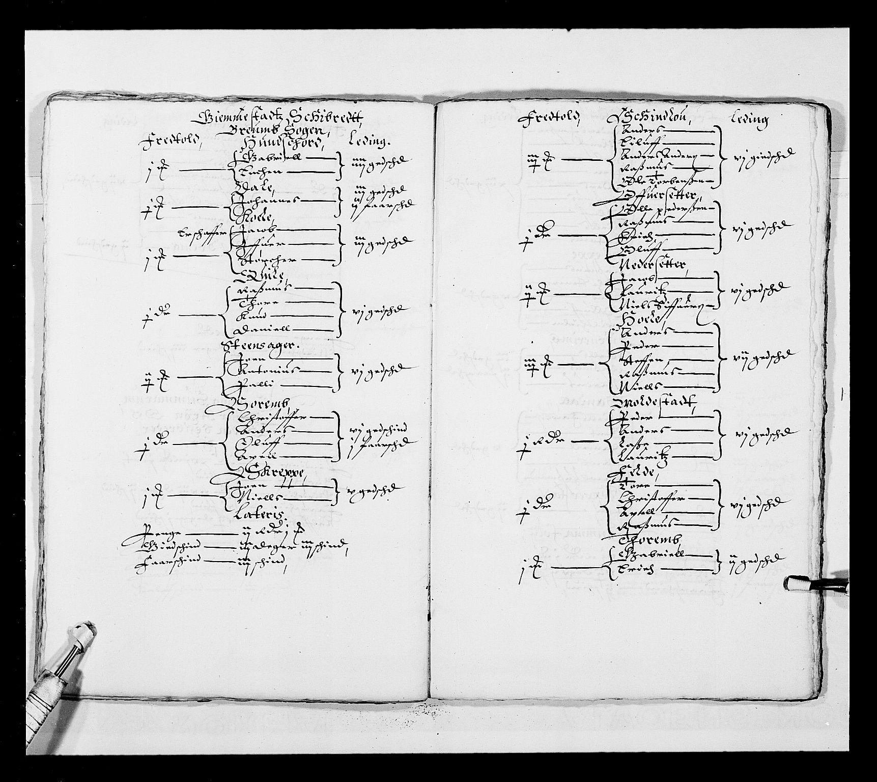 RA, Stattholderembetet 1572-1771, Ek/L0025: Jordebøker 1633-1658:, 1645-1646, s. 203