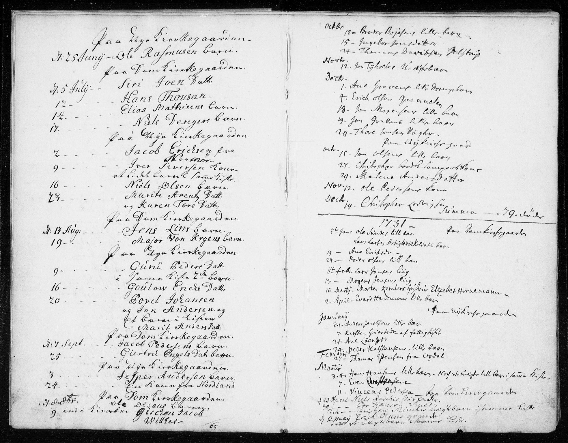 SAT, Ministerialprotokoller, klokkerbøker og fødselsregistre - Sør-Trøndelag, 601/L0037: Ministerialbok nr. 601A05, 1729-1761, s. 3
