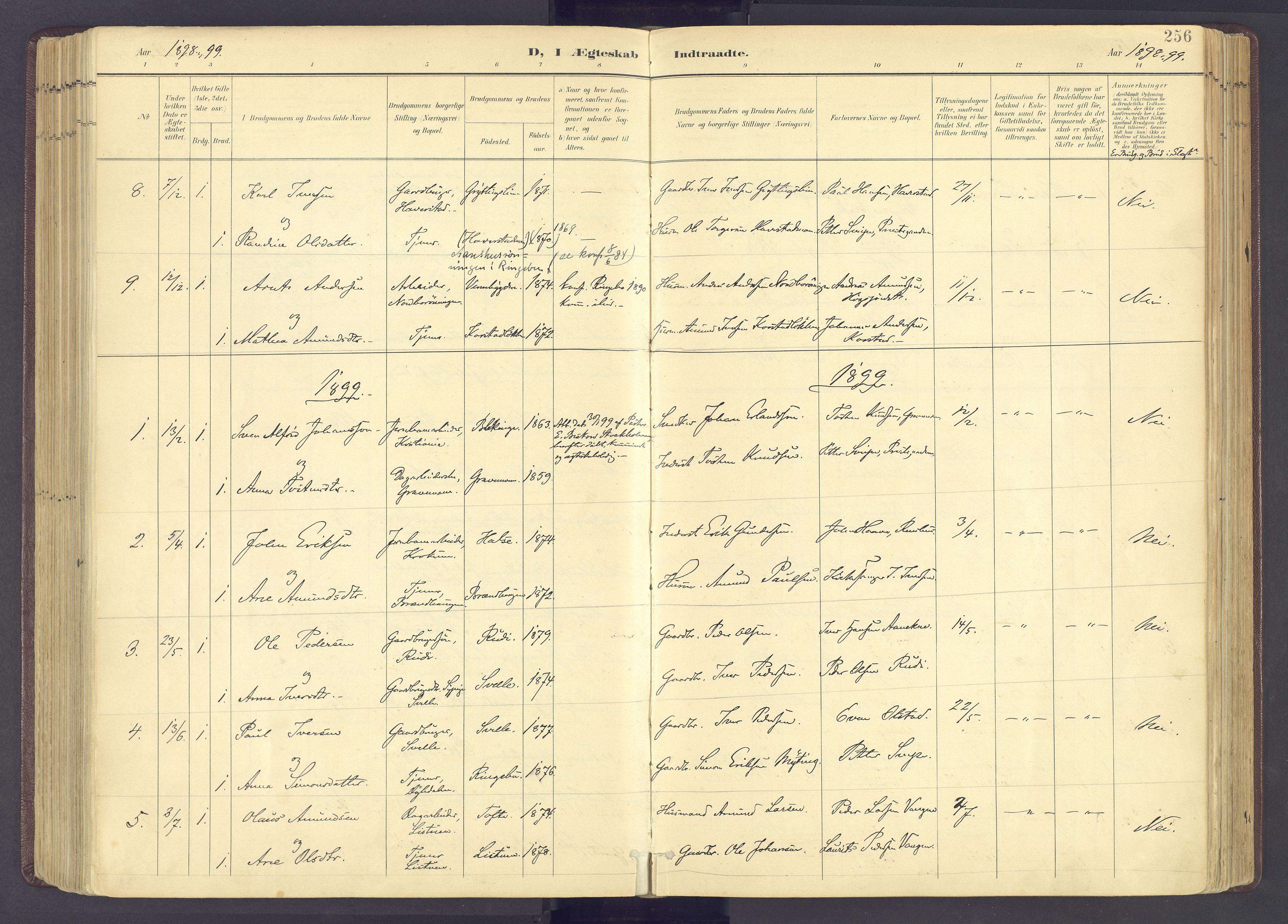 SAH, Sør-Fron prestekontor, H/Ha/Haa/L0004: Ministerialbok nr. 4, 1898-1919, s. 256
