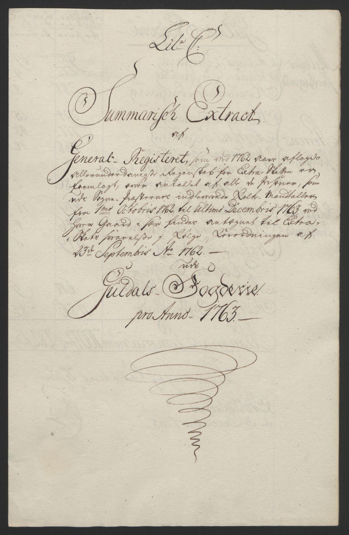 RA, Rentekammeret inntil 1814, Reviderte regnskaper, Fogderegnskap, R60/L4094: Ekstraskatten Orkdal og Gauldal, 1762-1765, s. 98