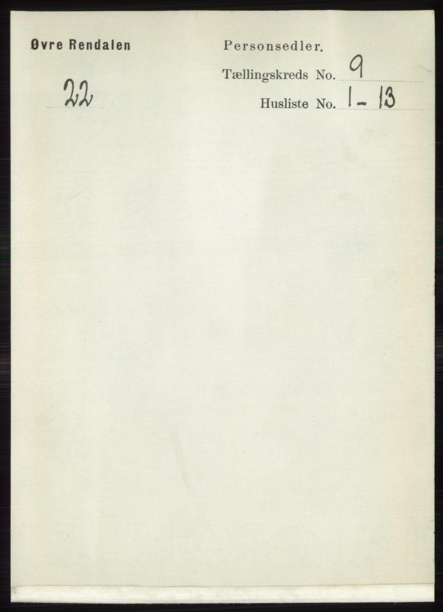 RA, Folketelling 1891 for 0433 Øvre Rendal herred, 1891, s. 2189