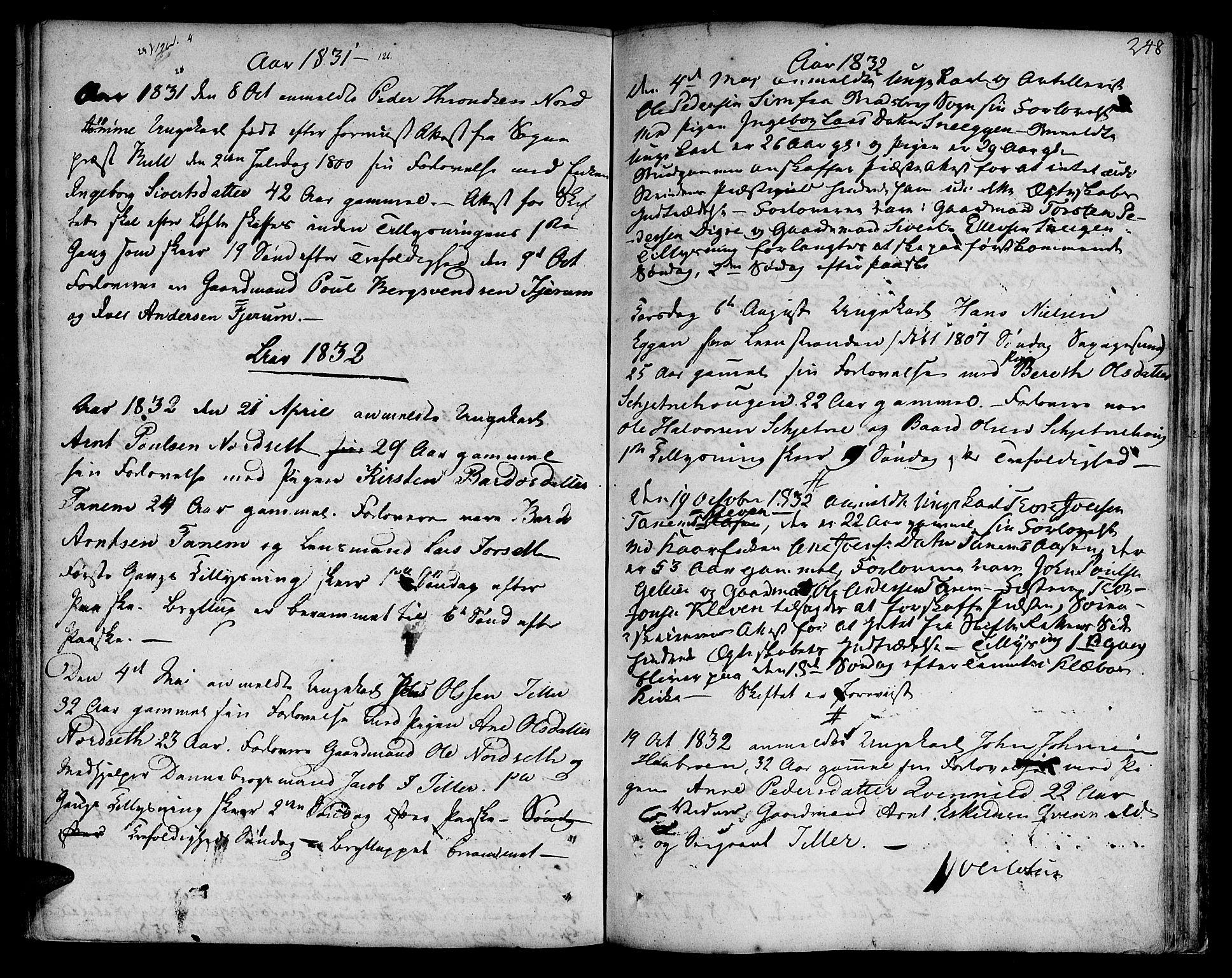 SAT, Ministerialprotokoller, klokkerbøker og fødselsregistre - Sør-Trøndelag, 618/L0438: Ministerialbok nr. 618A03, 1783-1815, s. 248