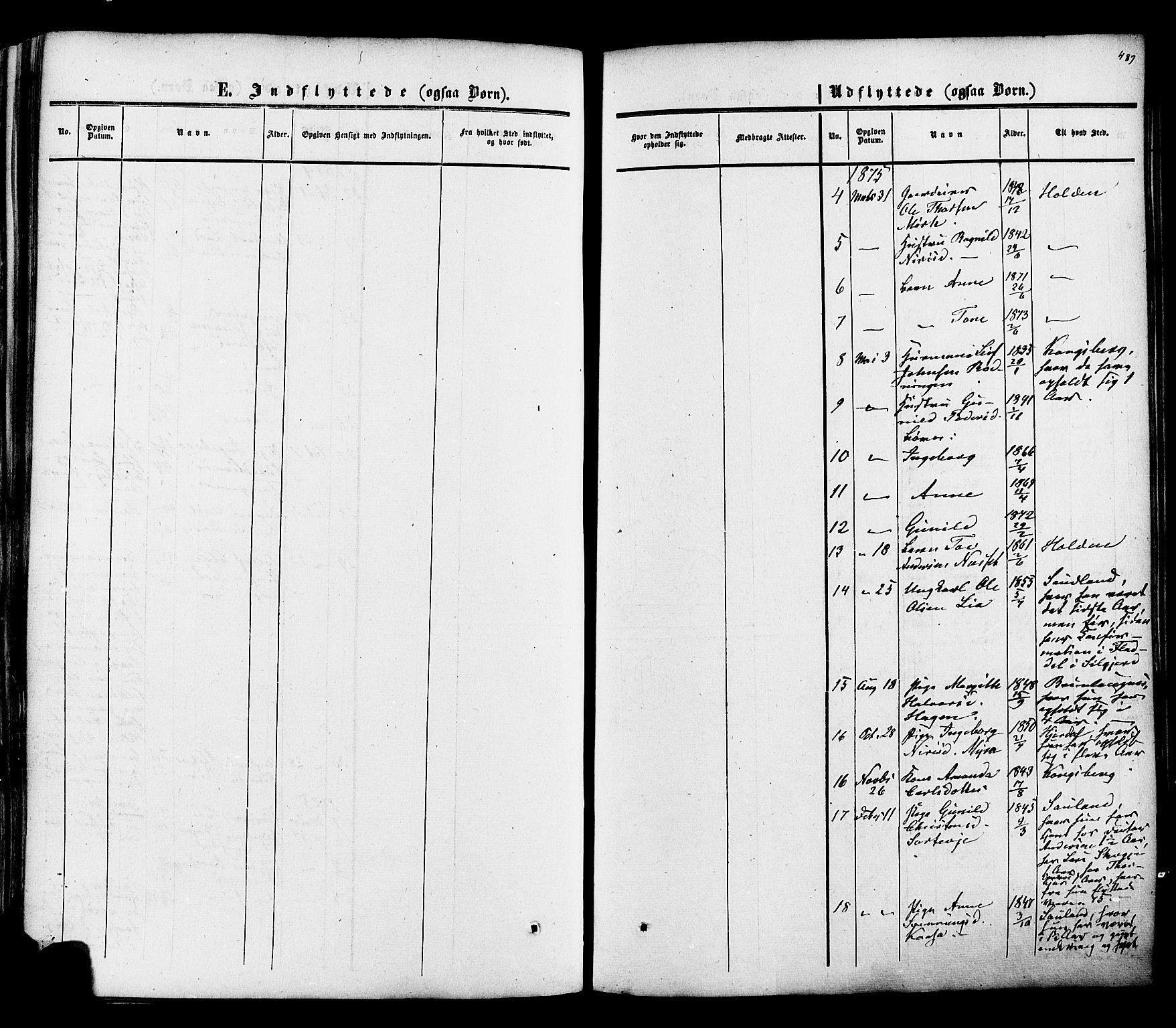 SAKO, Heddal kirkebøker, F/Fa/L0007: Ministerialbok nr. I 7, 1855-1877, s. 489