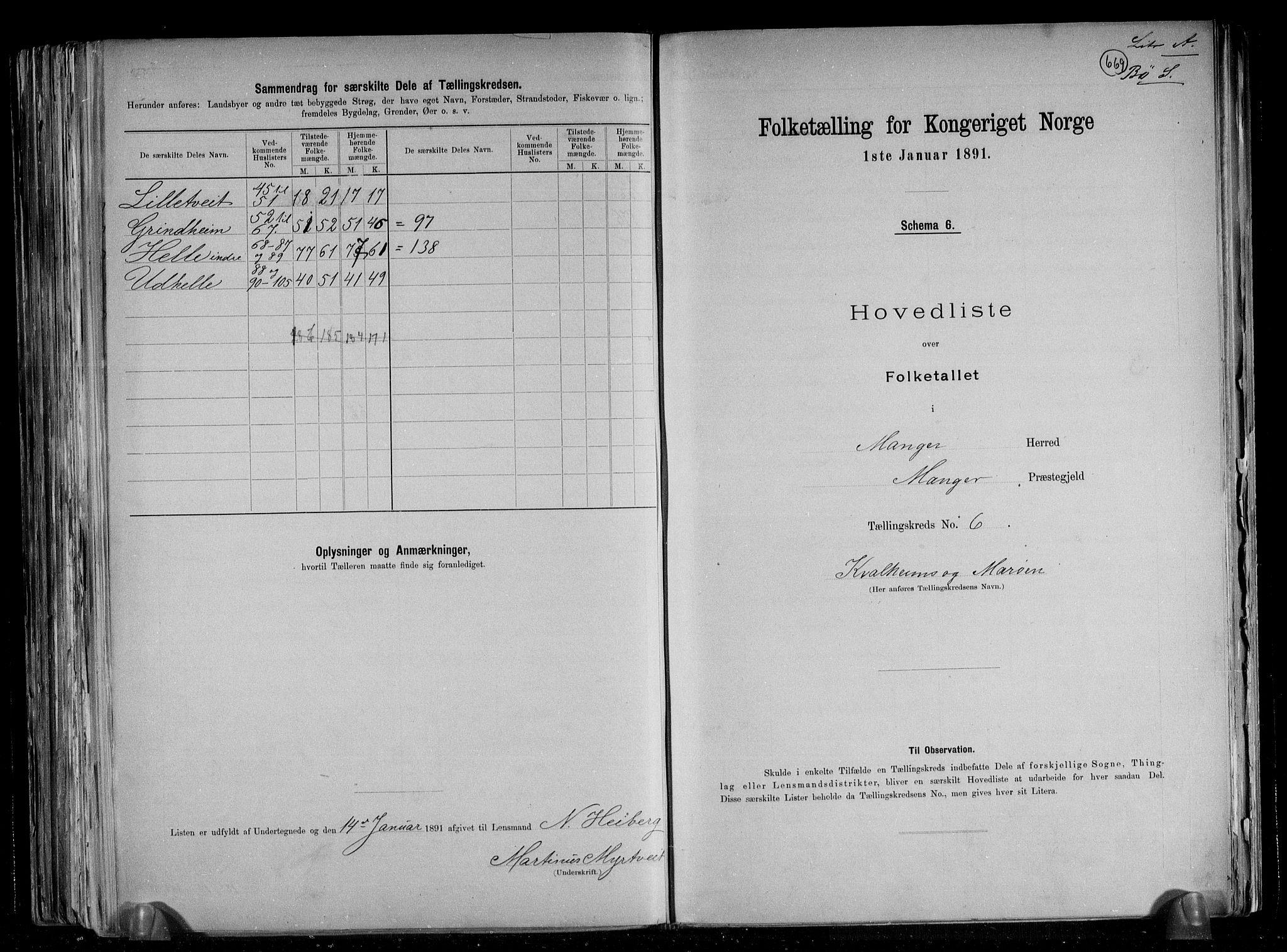 RA, Folketelling 1891 for 1261 Manger herred, 1891, s. 20