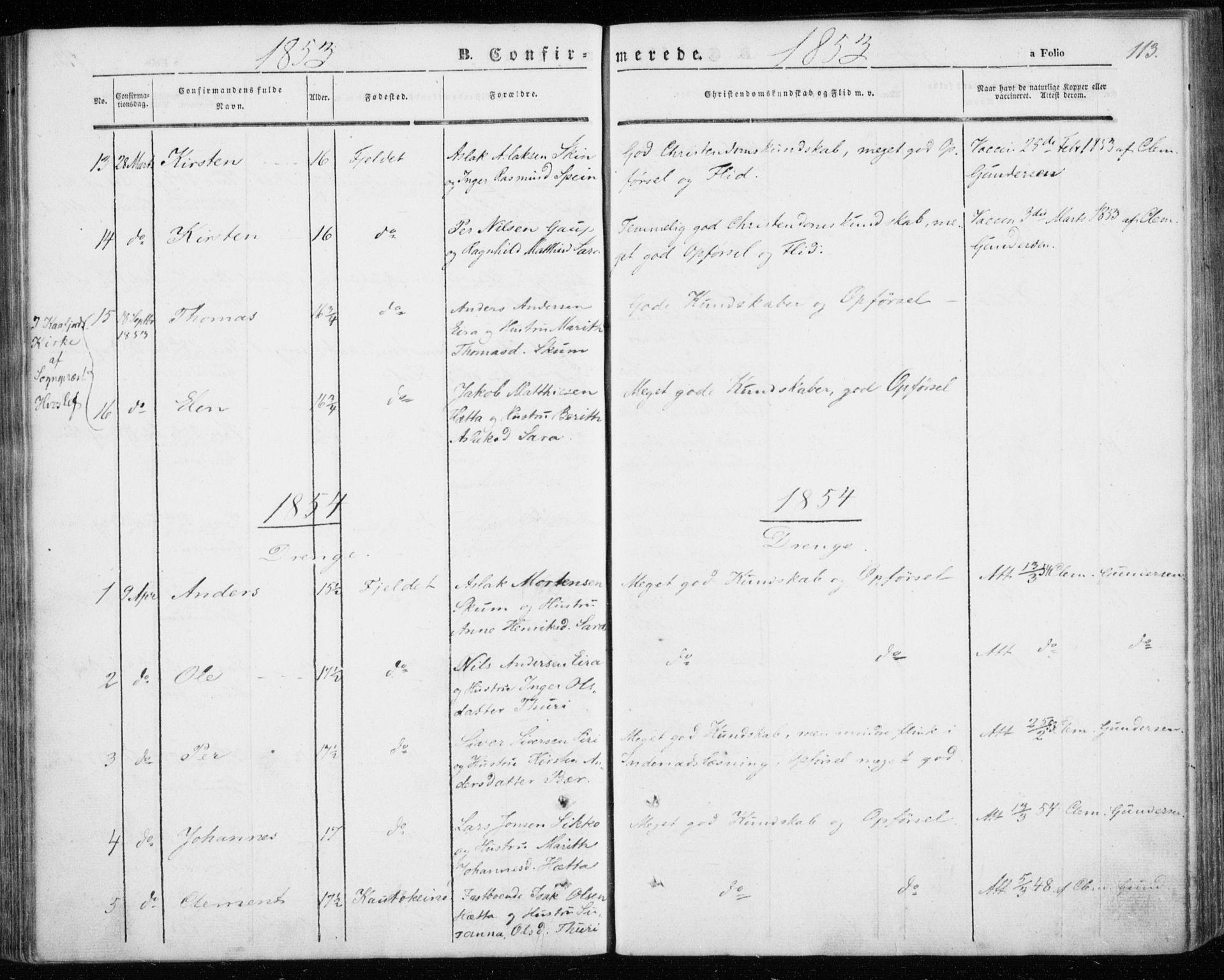 SATØ, Kautokeino sokneprestembete, Ministerialbok nr. 2, 1843-1861, s. 113