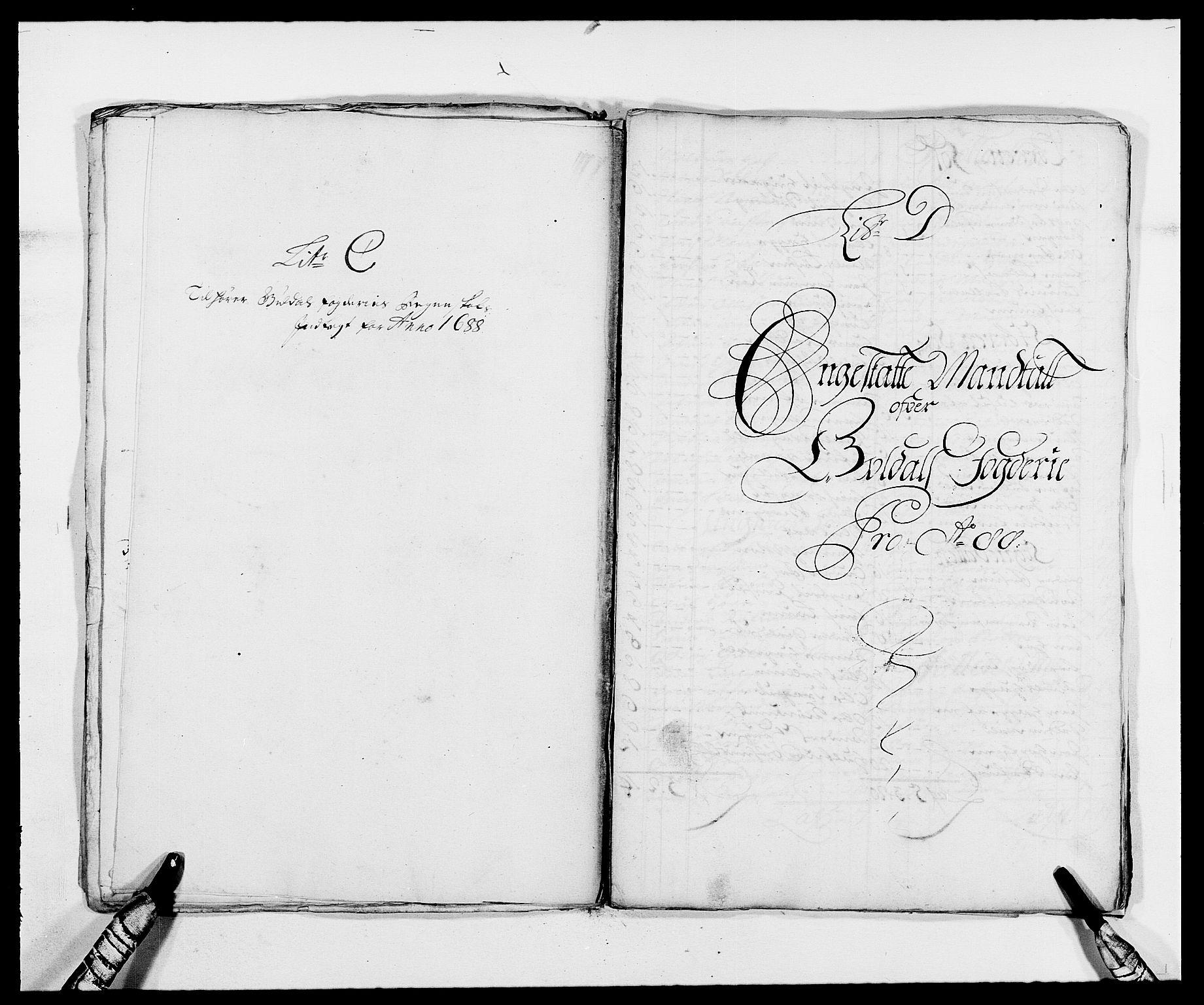 RA, Rentekammeret inntil 1814, Reviderte regnskaper, Fogderegnskap, R59/L3939: Fogderegnskap Gauldal, 1687-1688, s. 199