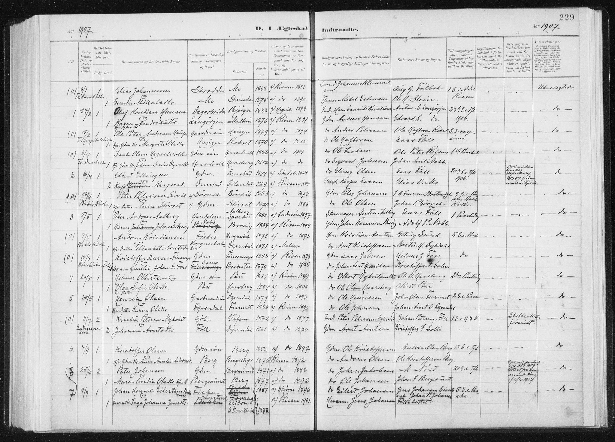 SAT, Ministerialprotokoller, klokkerbøker og fødselsregistre - Sør-Trøndelag, 647/L0635: Ministerialbok nr. 647A02, 1896-1911, s. 229