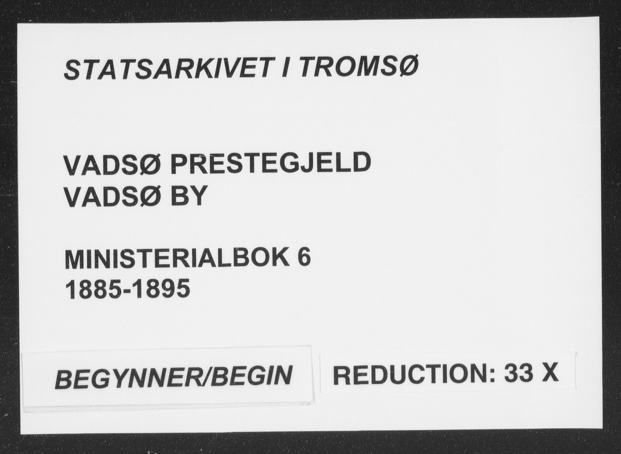 SATØ, Vadsø sokneprestkontor, H/Ha/L0006kirke: Ministerialbok nr. 6, 1885-1895