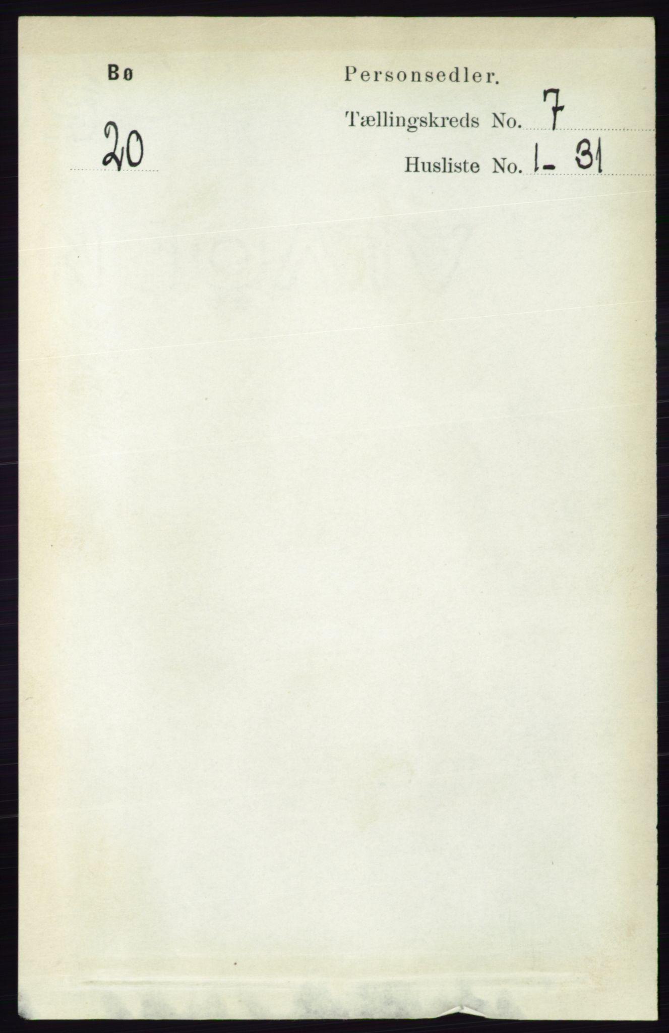 RA, Folketelling 1891 for 0821 Bø herred, 1891, s. 2204