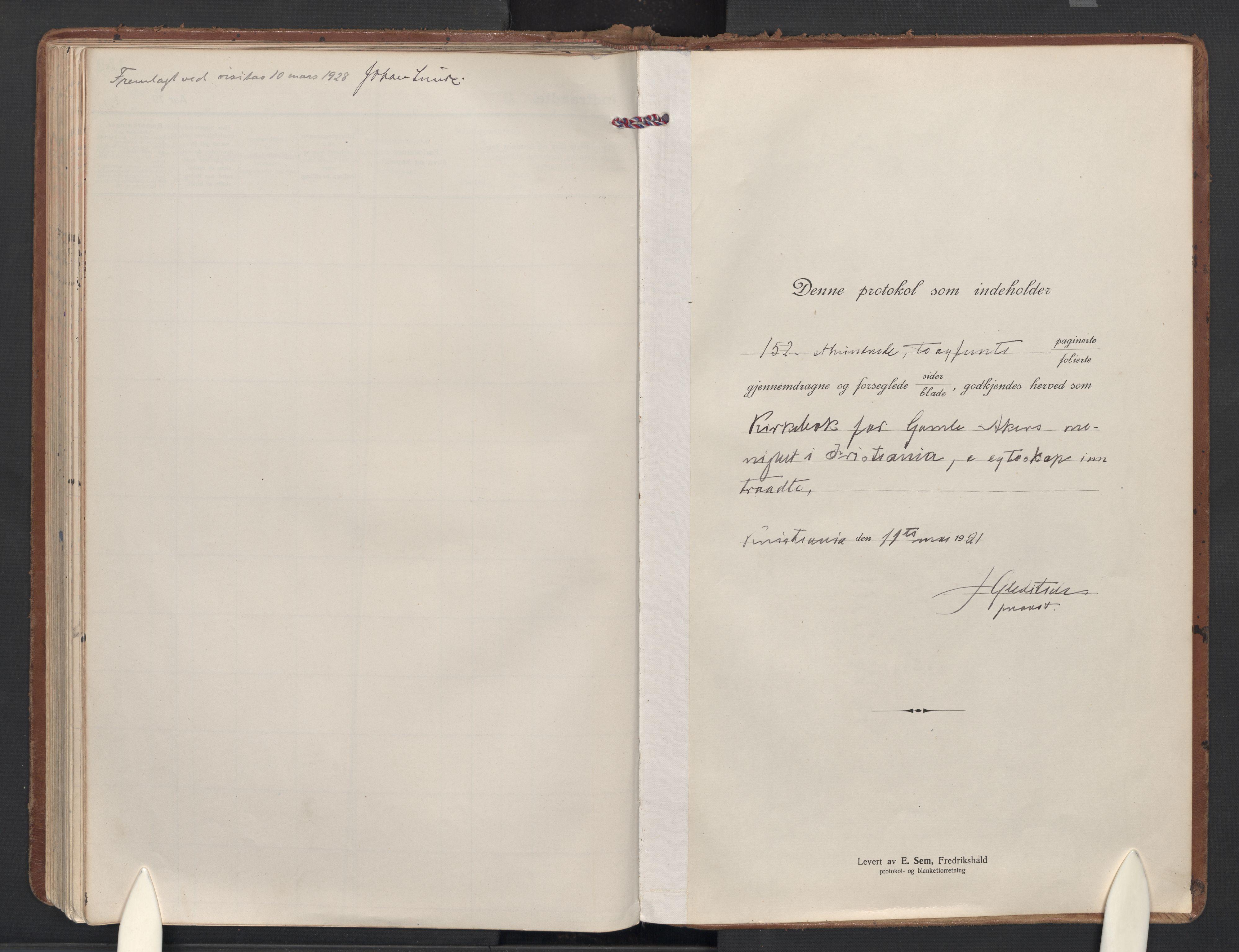 SAO, Gamle Aker prestekontor Kirkebøker, F/L0017: Ministerialbok nr. 17, 1921-1931