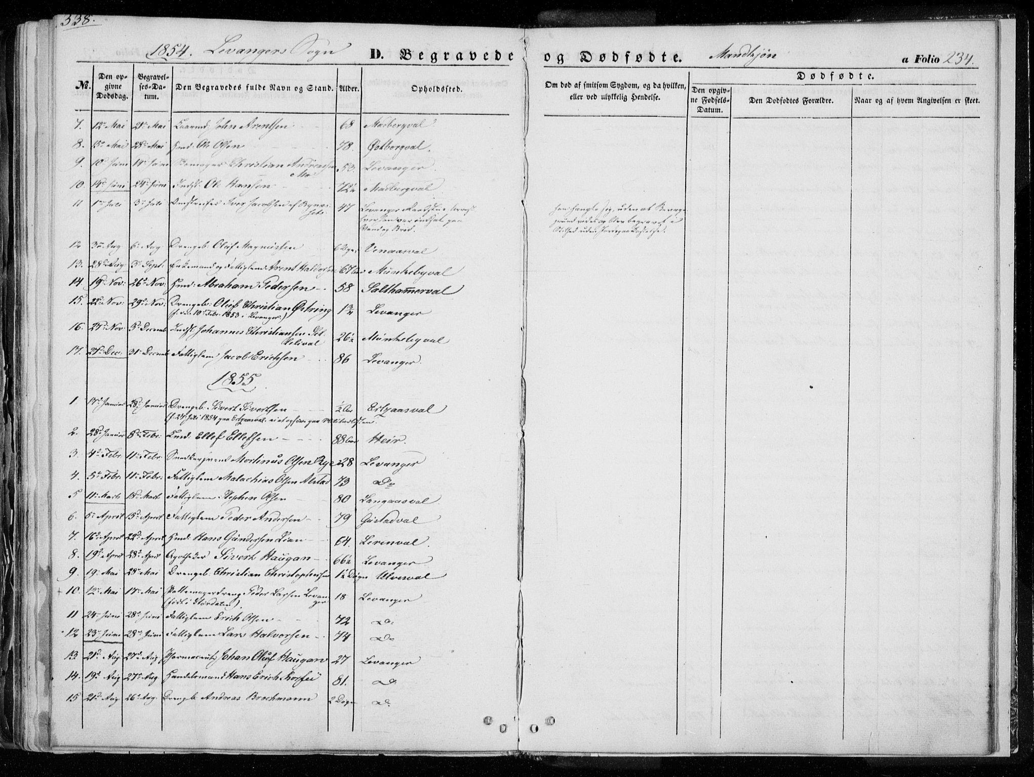SAT, Ministerialprotokoller, klokkerbøker og fødselsregistre - Nord-Trøndelag, 720/L0183: Ministerialbok nr. 720A01, 1836-1855, s. 234