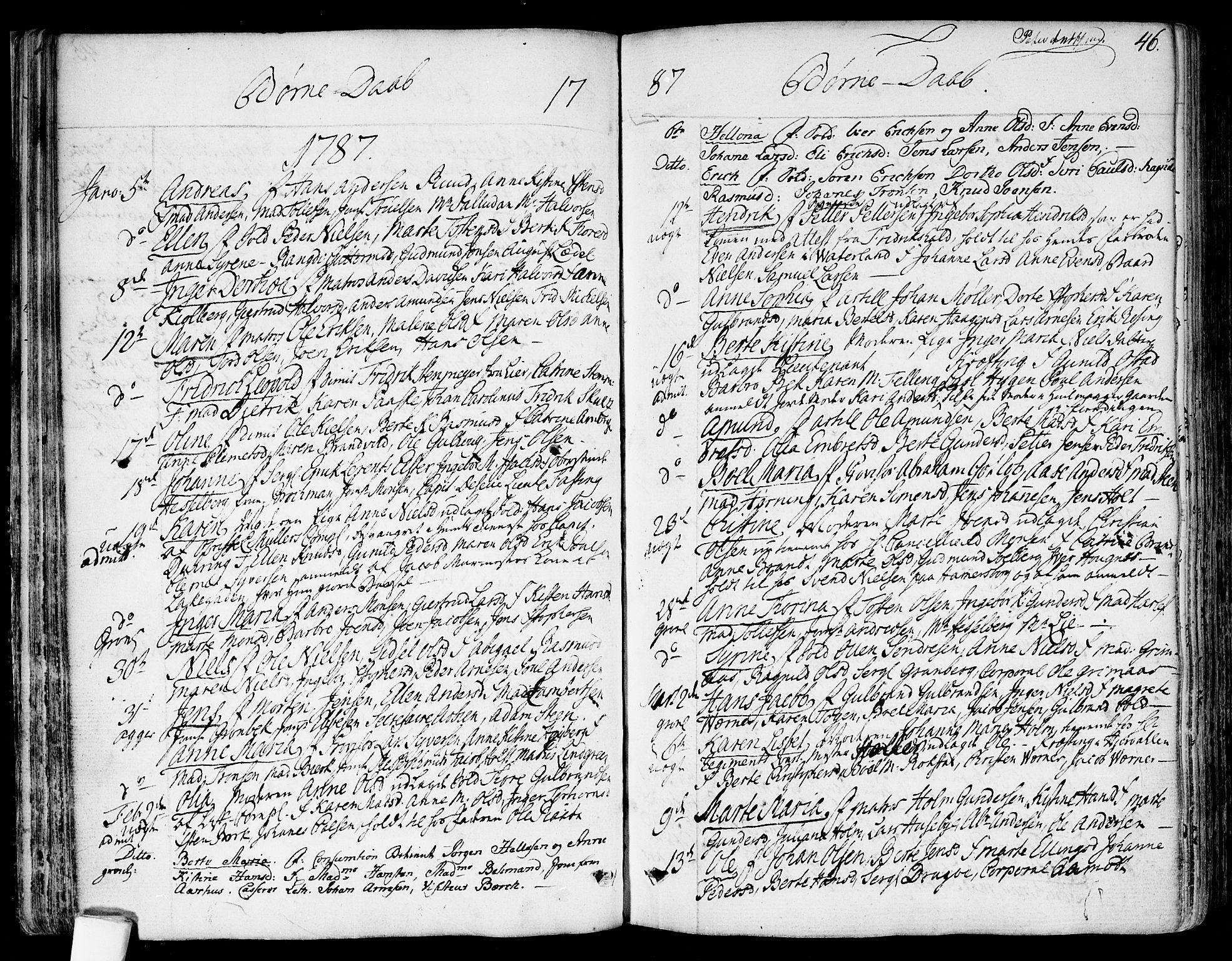 SAO, Garnisonsmenigheten Kirkebøker, F/Fa/L0003: Ministerialbok nr. 3, 1777-1809, s. 46
