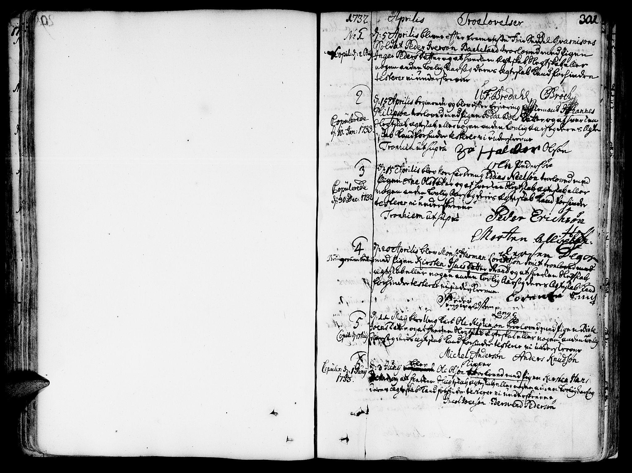 SAT, Ministerialprotokoller, klokkerbøker og fødselsregistre - Sør-Trøndelag, 602/L0103: Ministerialbok nr. 602A01, 1732-1774, s. 301