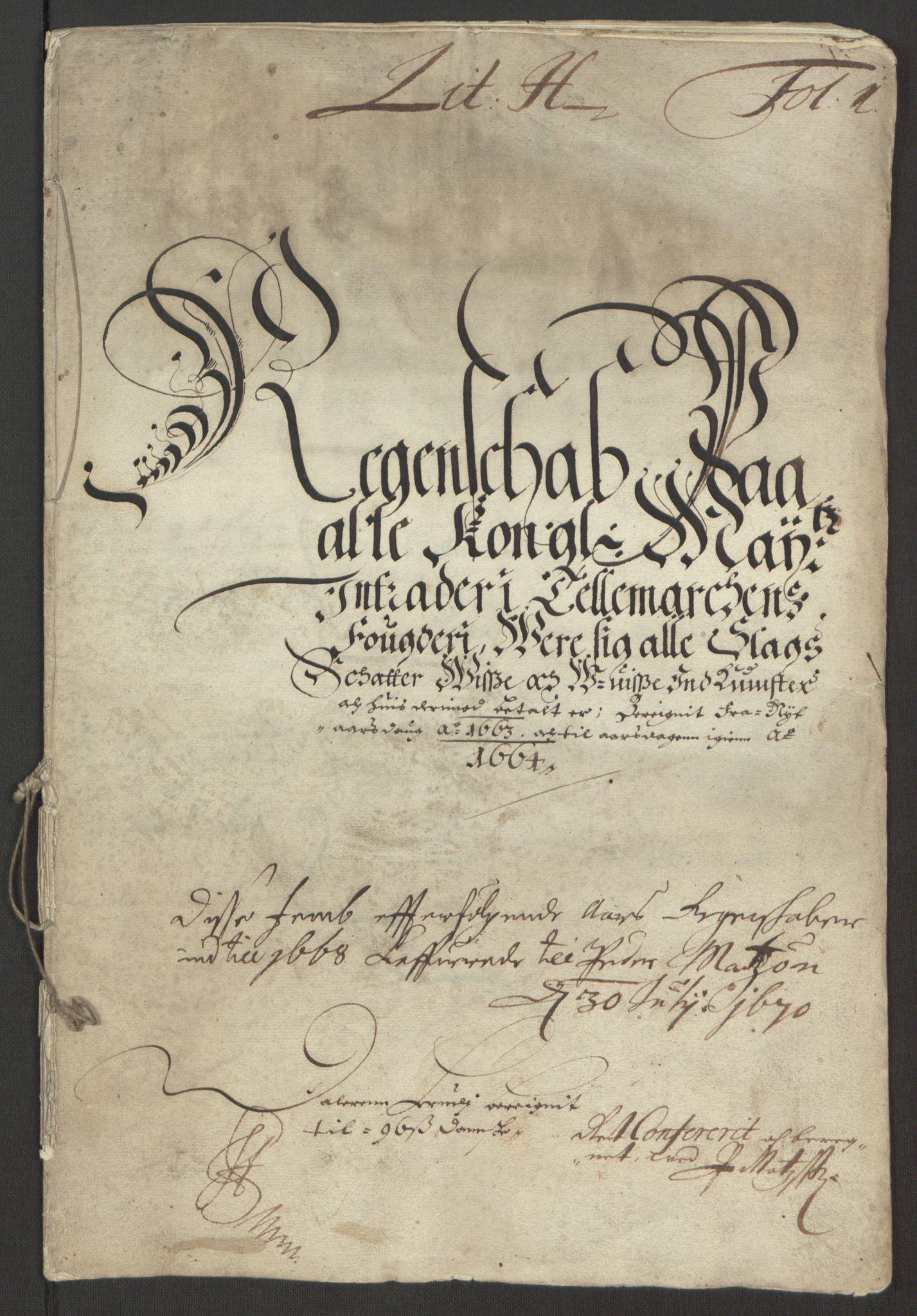 RA, Rentekammeret inntil 1814, Reviderte regnskaper, Fogderegnskap, R35/L2054: Fogderegnskap Øvre og Nedre Telemark, 1662-1663, s. 253