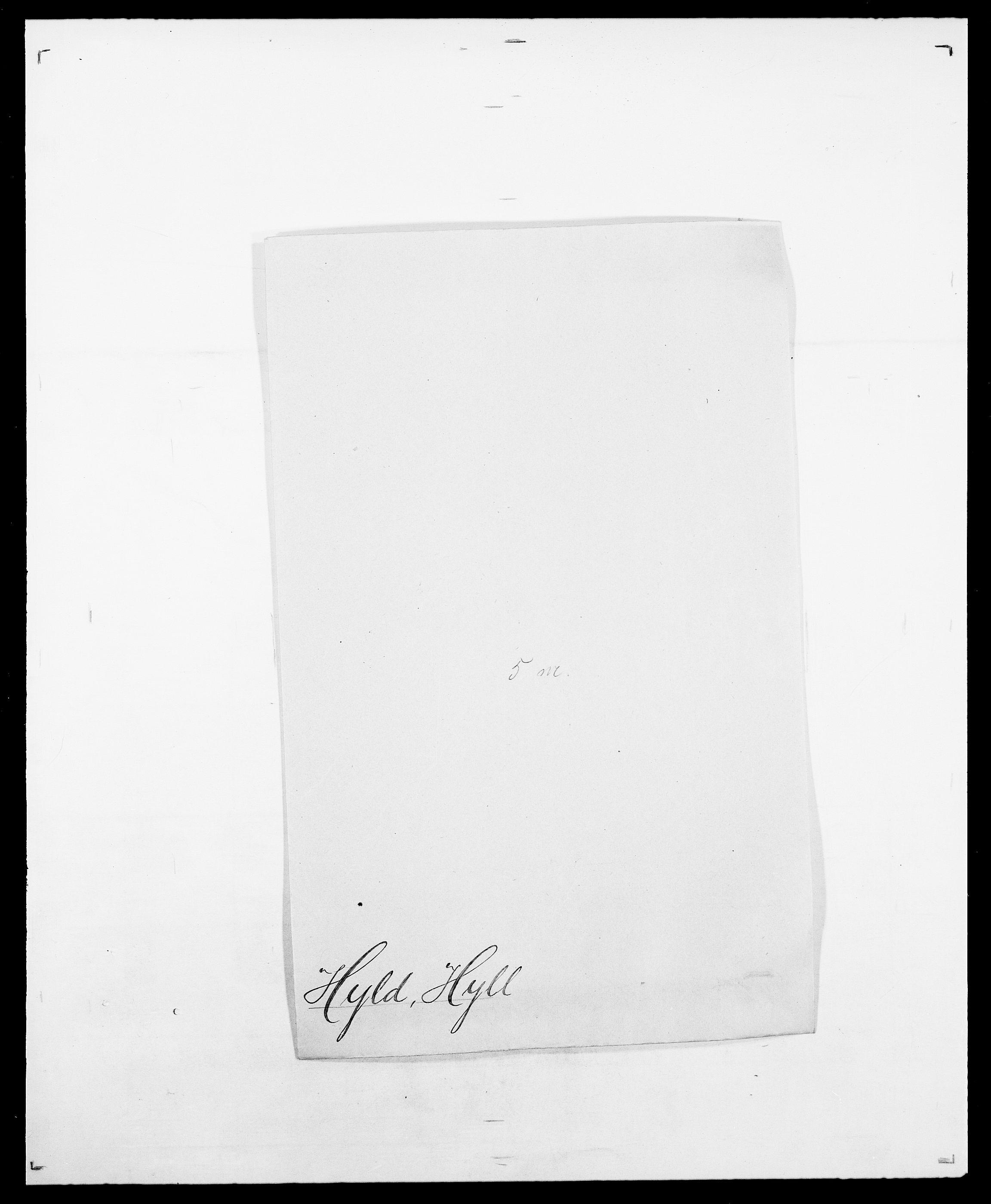 SAO, Delgobe, Charles Antoine - samling, D/Da/L0019: van der Hude - Joys, s. 264