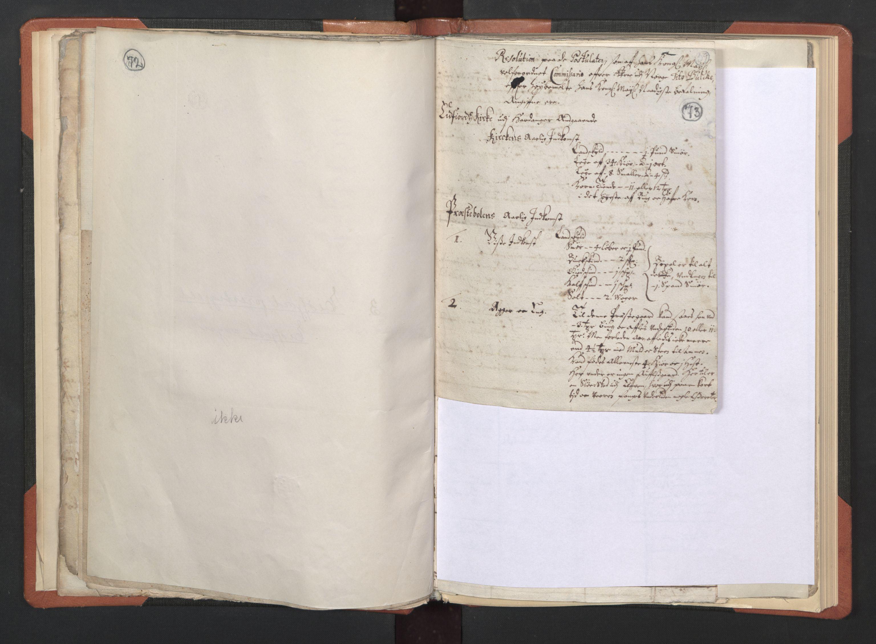 RA, Sogneprestenes manntall 1664-1666, nr. 21: Hardanger prosti, 1664-1666, s. 72-73