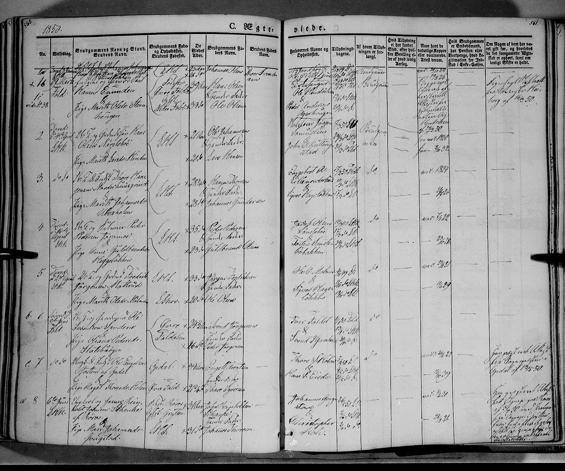 SAH, Lesja prestekontor, Ministerialbok nr. 6A, 1843-1854, s. 560-561