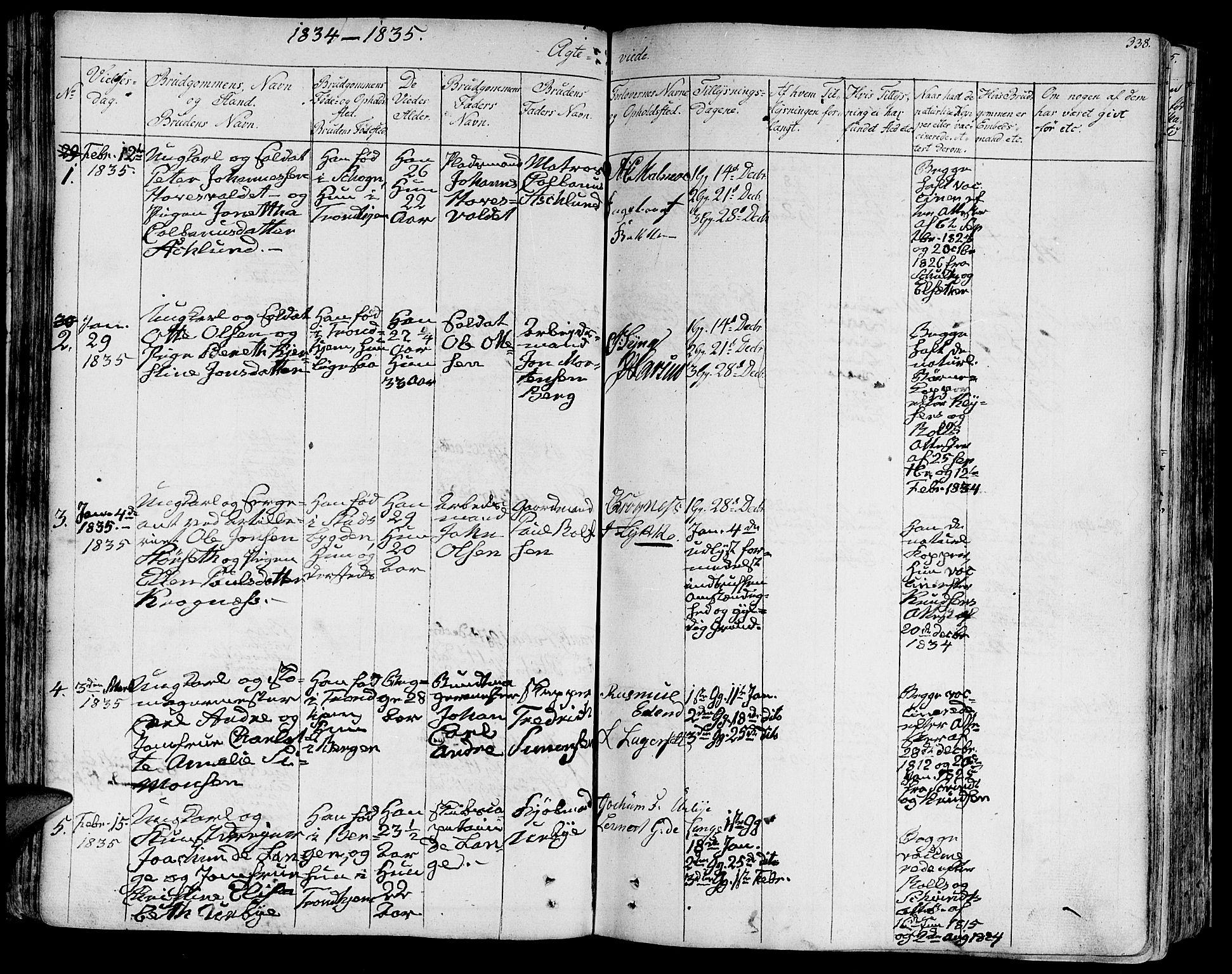 SAT, Ministerialprotokoller, klokkerbøker og fødselsregistre - Sør-Trøndelag, 602/L0109: Ministerialbok nr. 602A07, 1821-1840, s. 338