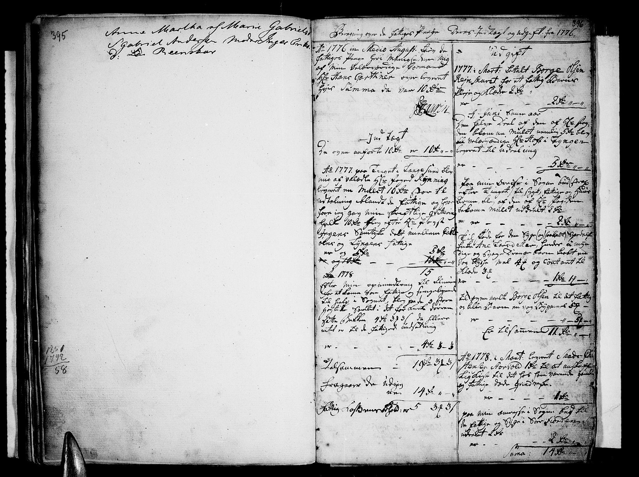 SATØ, Karlsøy sokneprestembete, Ministerialbok nr. 1, 1775-1823, s. 395-396