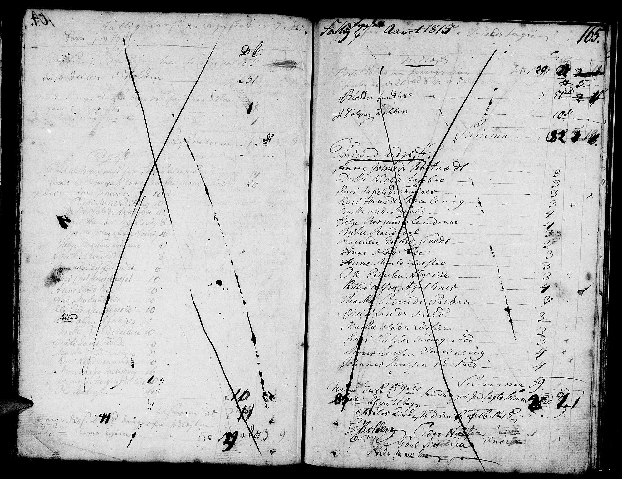 SAB, Askøy Sokneprestembete, H: Ministerialbok nr. A 2, 1801-1818, s. 165