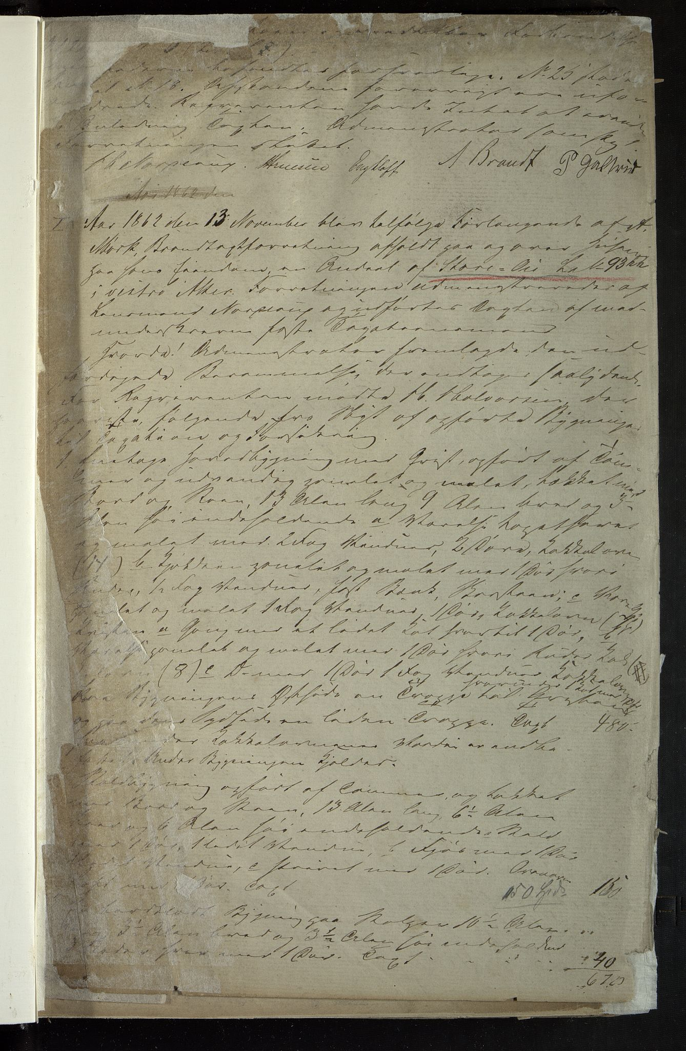 OBA, Lensmennene i Aker, F/Fa/L0002: Branntakstprotokoll, 1860-1868, s. 1a