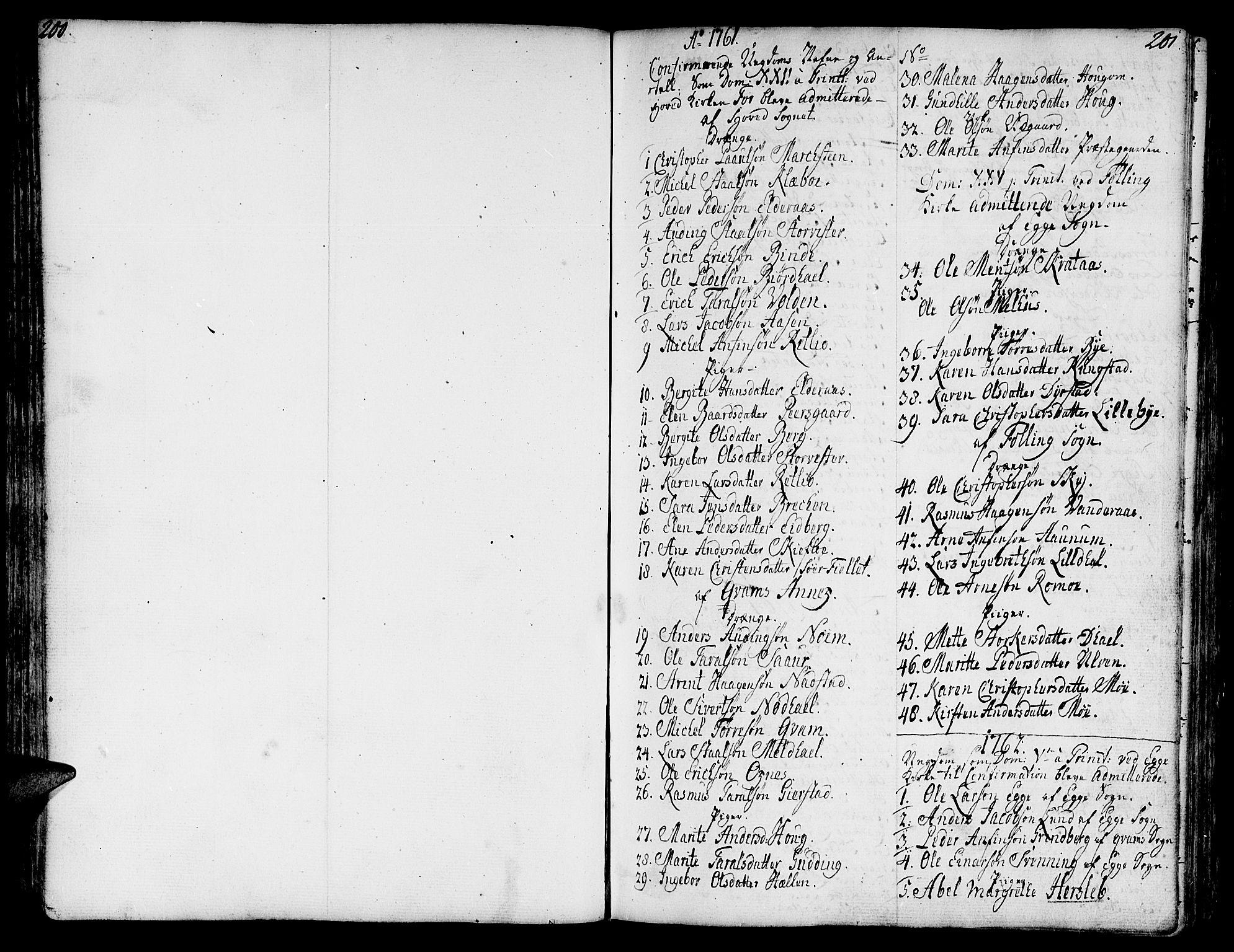 SAT, Ministerialprotokoller, klokkerbøker og fødselsregistre - Nord-Trøndelag, 746/L0440: Ministerialbok nr. 746A02, 1760-1815, s. 200-201