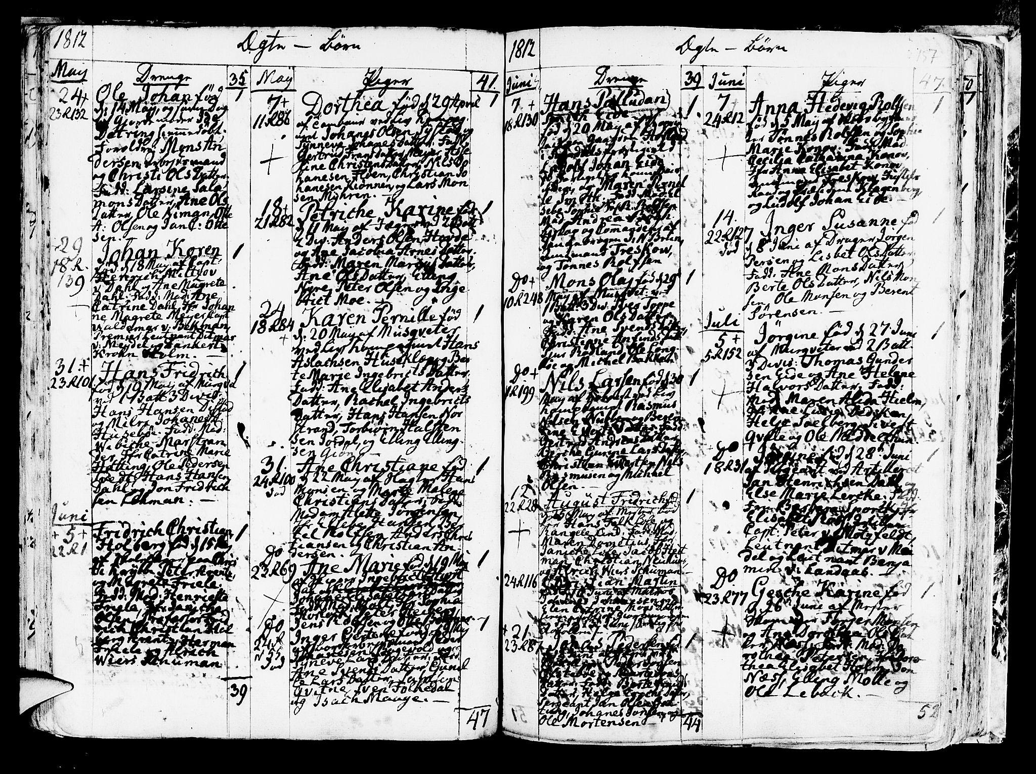 SAB, Korskirken Sokneprestembete, H/Haa/L0006: Ministerialbok nr. A 6, 1790-1820, s. 157