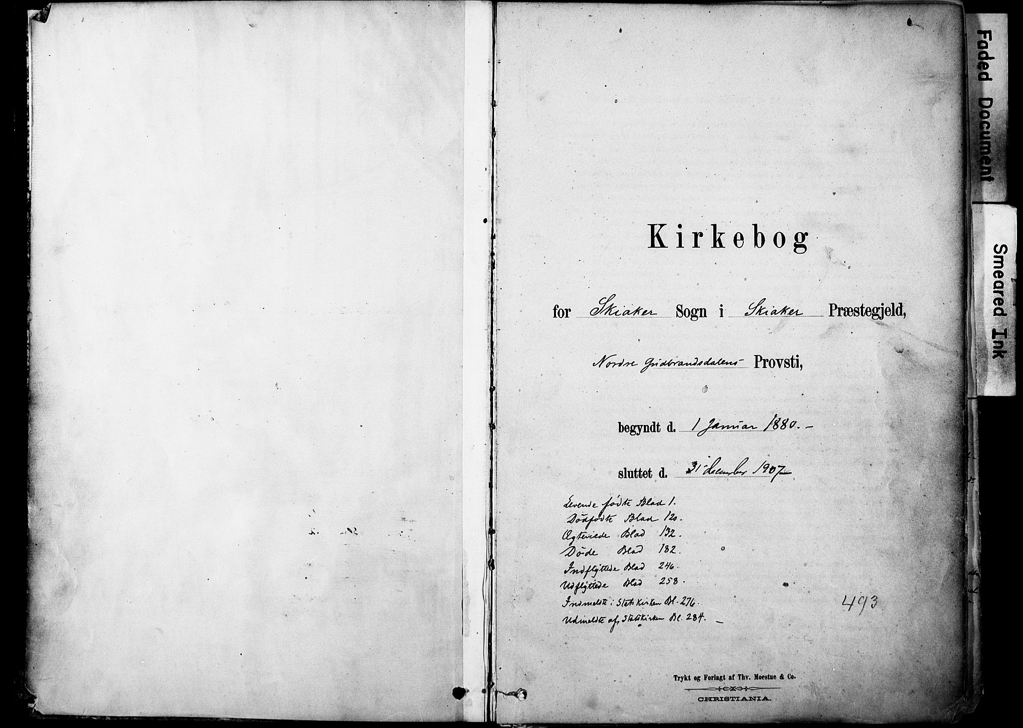 SAH, Skjåk prestekontor, Ministerialbok nr. 3, 1880-1907