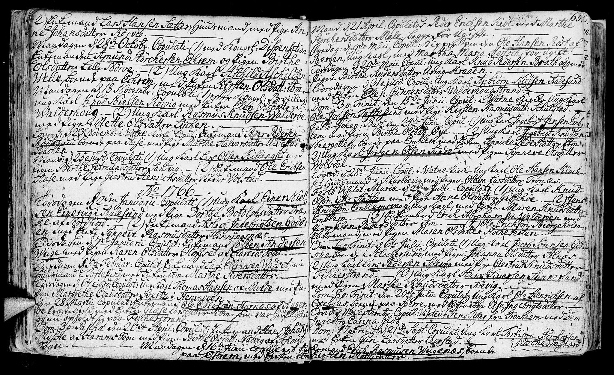 SAT, Ministerialprotokoller, klokkerbøker og fødselsregistre - Møre og Romsdal, 528/L0392: Ministerialbok nr. 528A03, 1762-1800, s. 65