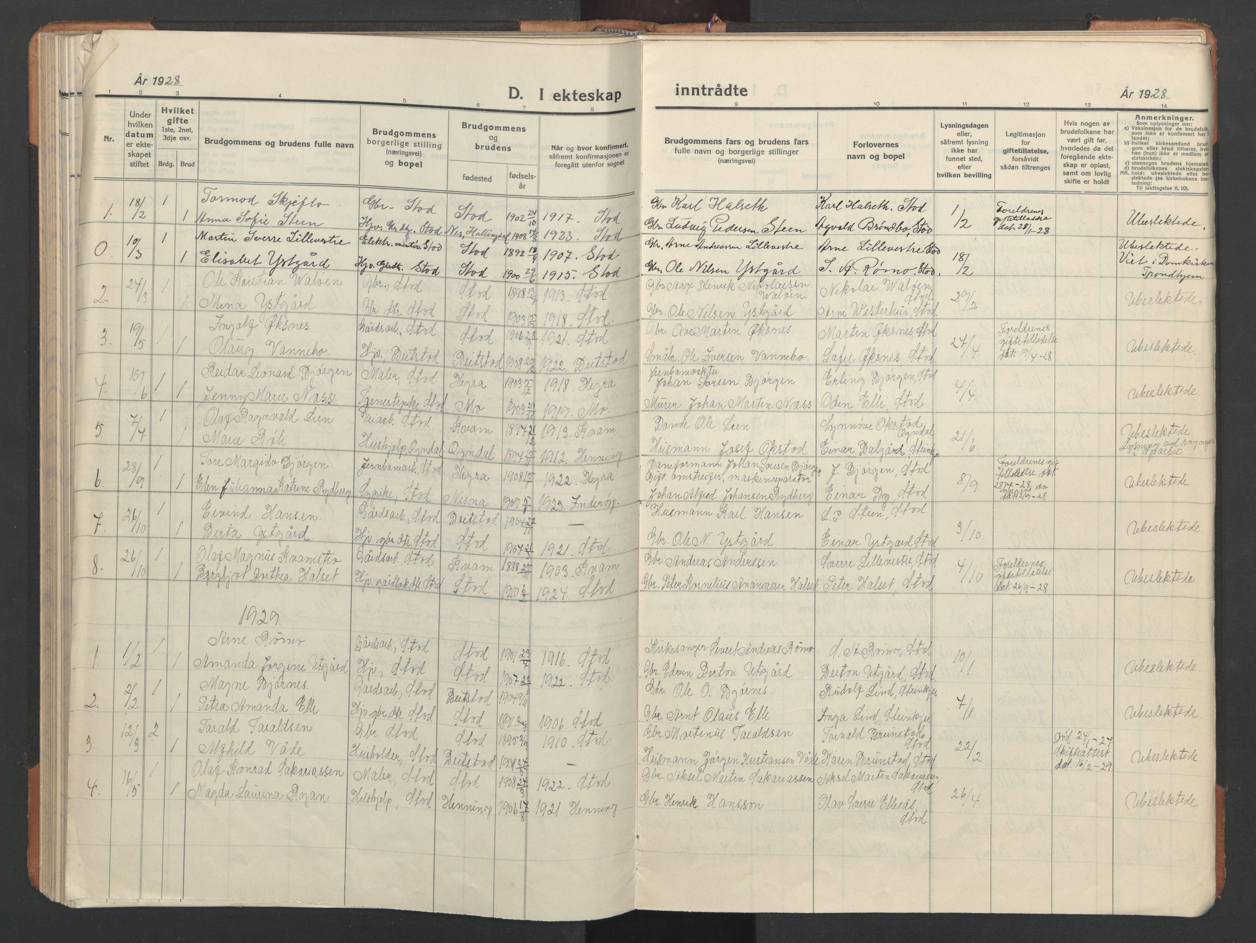 SAT, Ministerialprotokoller, klokkerbøker og fødselsregistre - Nord-Trøndelag, 746/L0455: Klokkerbok nr. 746C01, 1908-1933