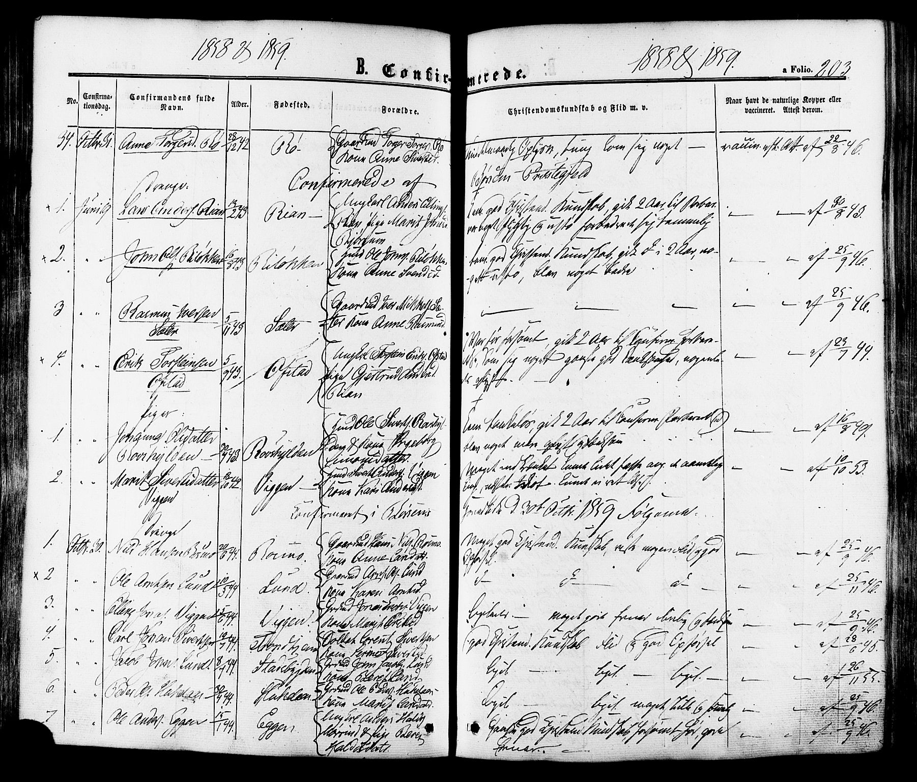 SAT, Ministerialprotokoller, klokkerbøker og fødselsregistre - Sør-Trøndelag, 665/L0772: Ministerialbok nr. 665A07, 1856-1878, s. 203