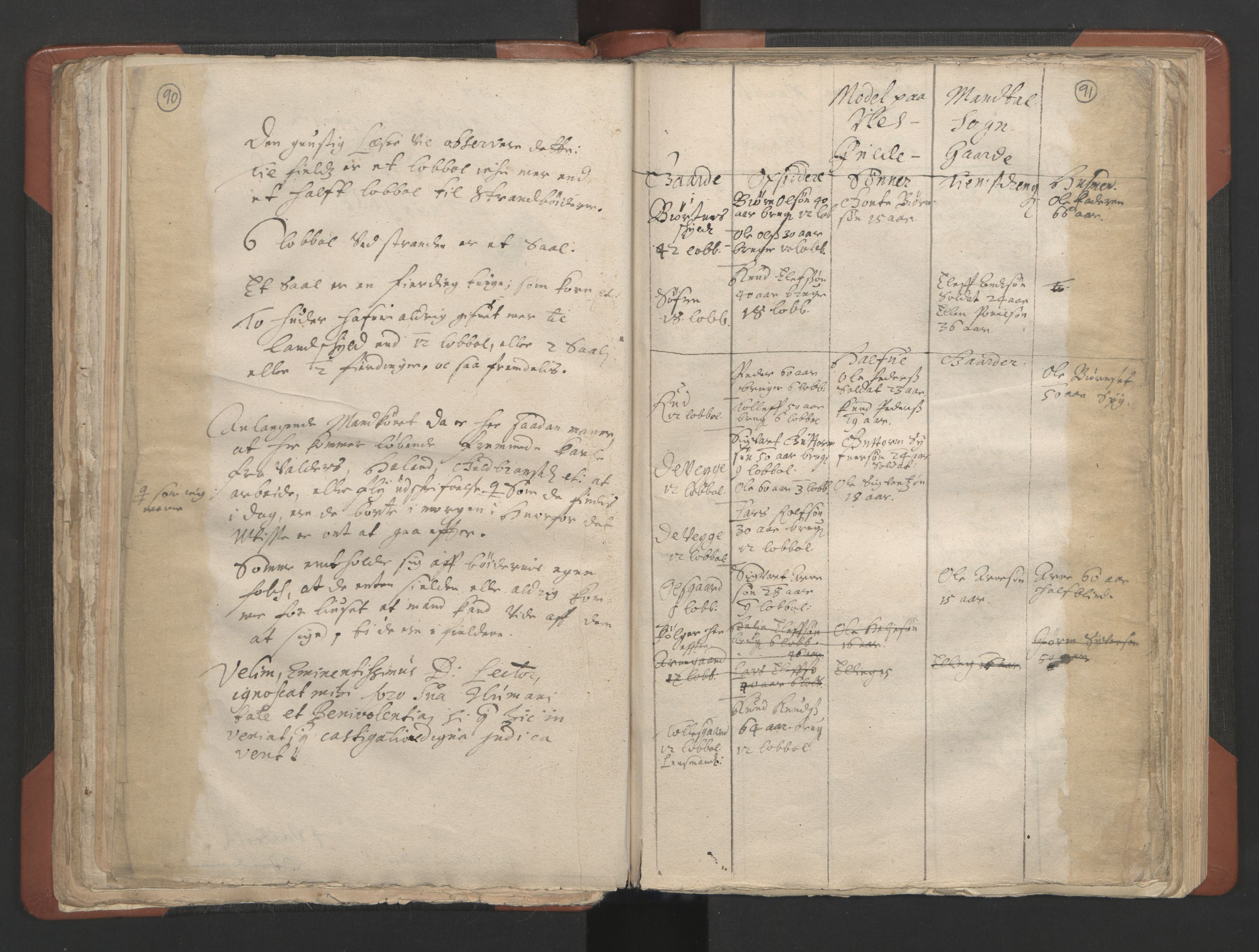 RA, Sogneprestenes manntall 1664-1666, nr. 8: Valdres prosti, 1664-1666, s. 90-91