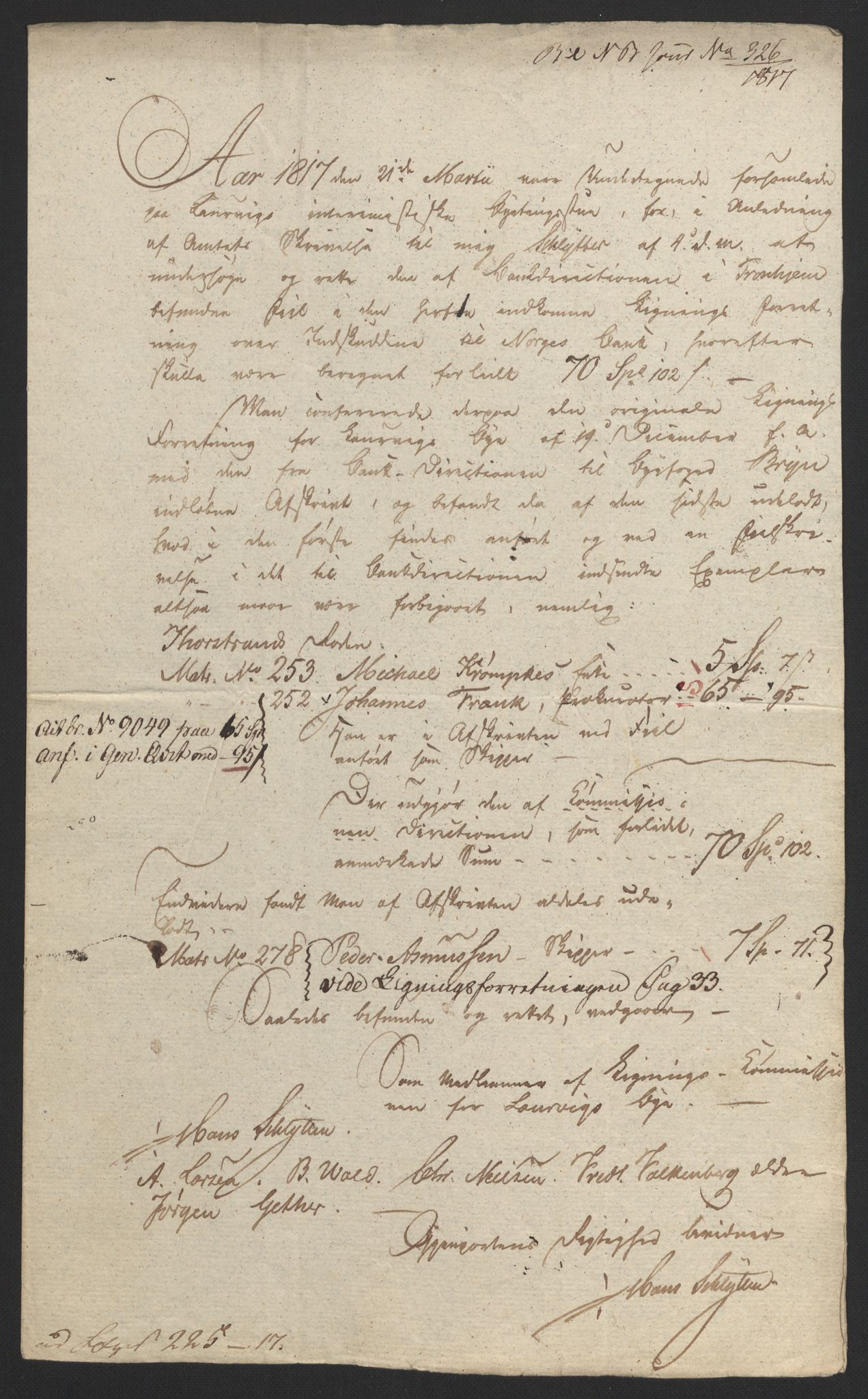 NOBA, Norges Bank/Sølvskatten 1816*, 1816-1824, s. 72