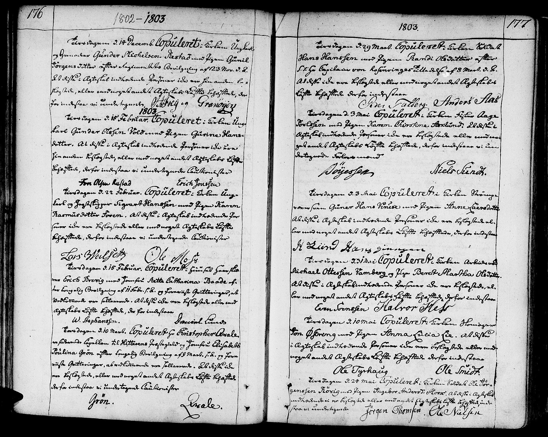 SAT, Ministerialprotokoller, klokkerbøker og fødselsregistre - Sør-Trøndelag, 602/L0105: Ministerialbok nr. 602A03, 1774-1814, s. 176-177