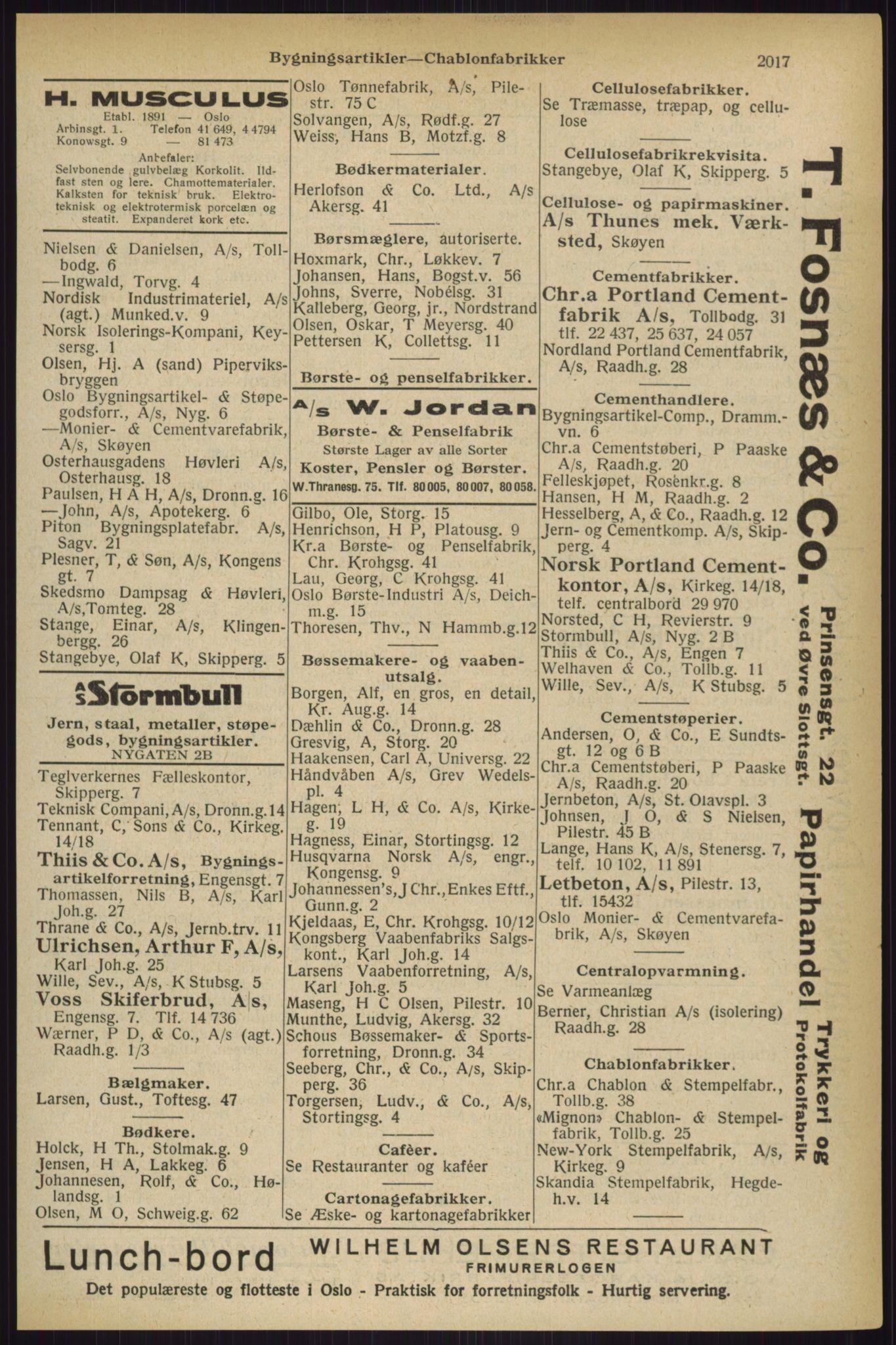 RA, Oslo adressebok (publikasjon)*, 1927, s. 2017