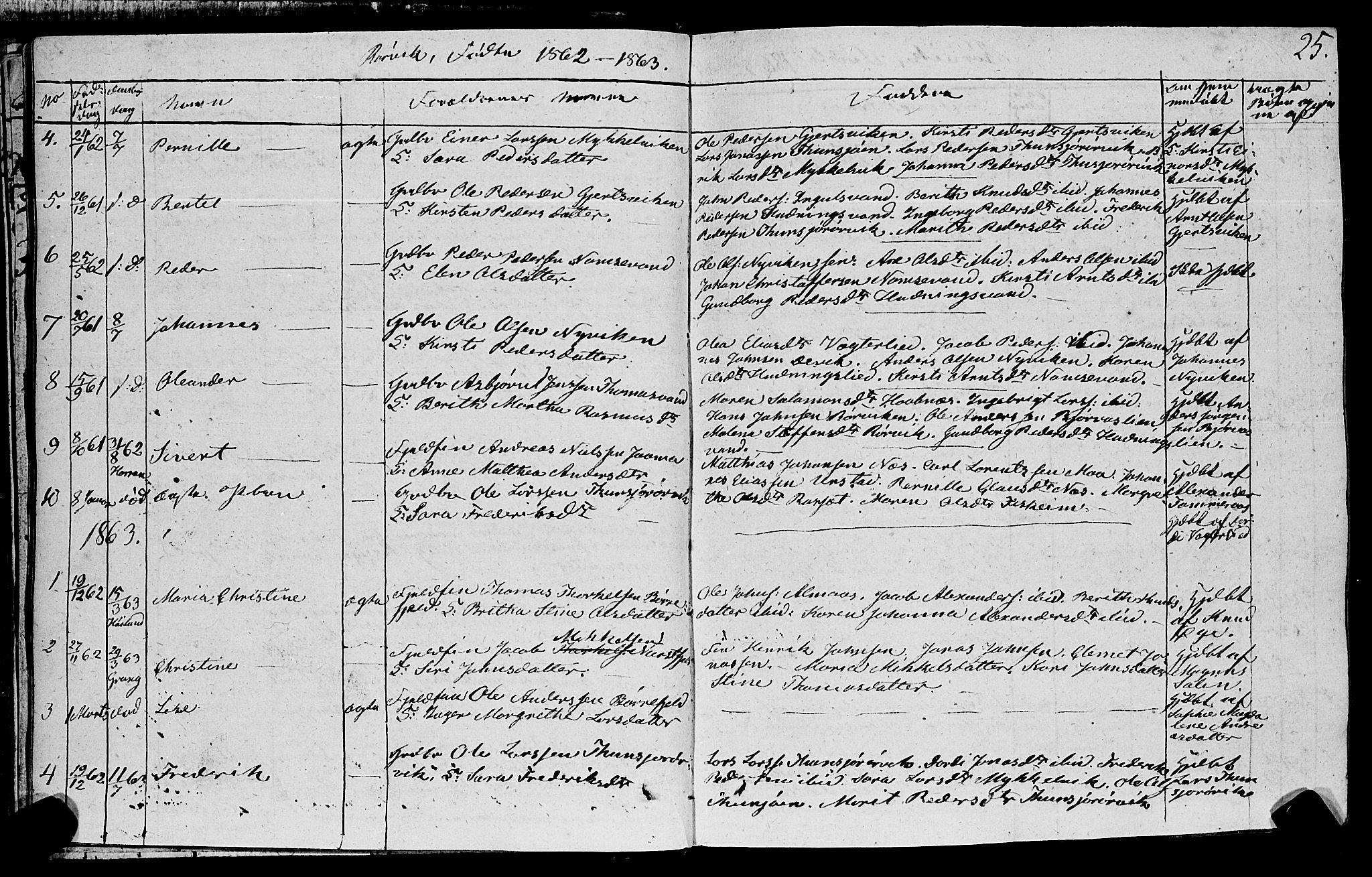 SAT, Ministerialprotokoller, klokkerbøker og fødselsregistre - Nord-Trøndelag, 762/L0538: Ministerialbok nr. 762A02 /1, 1833-1879, s. 25