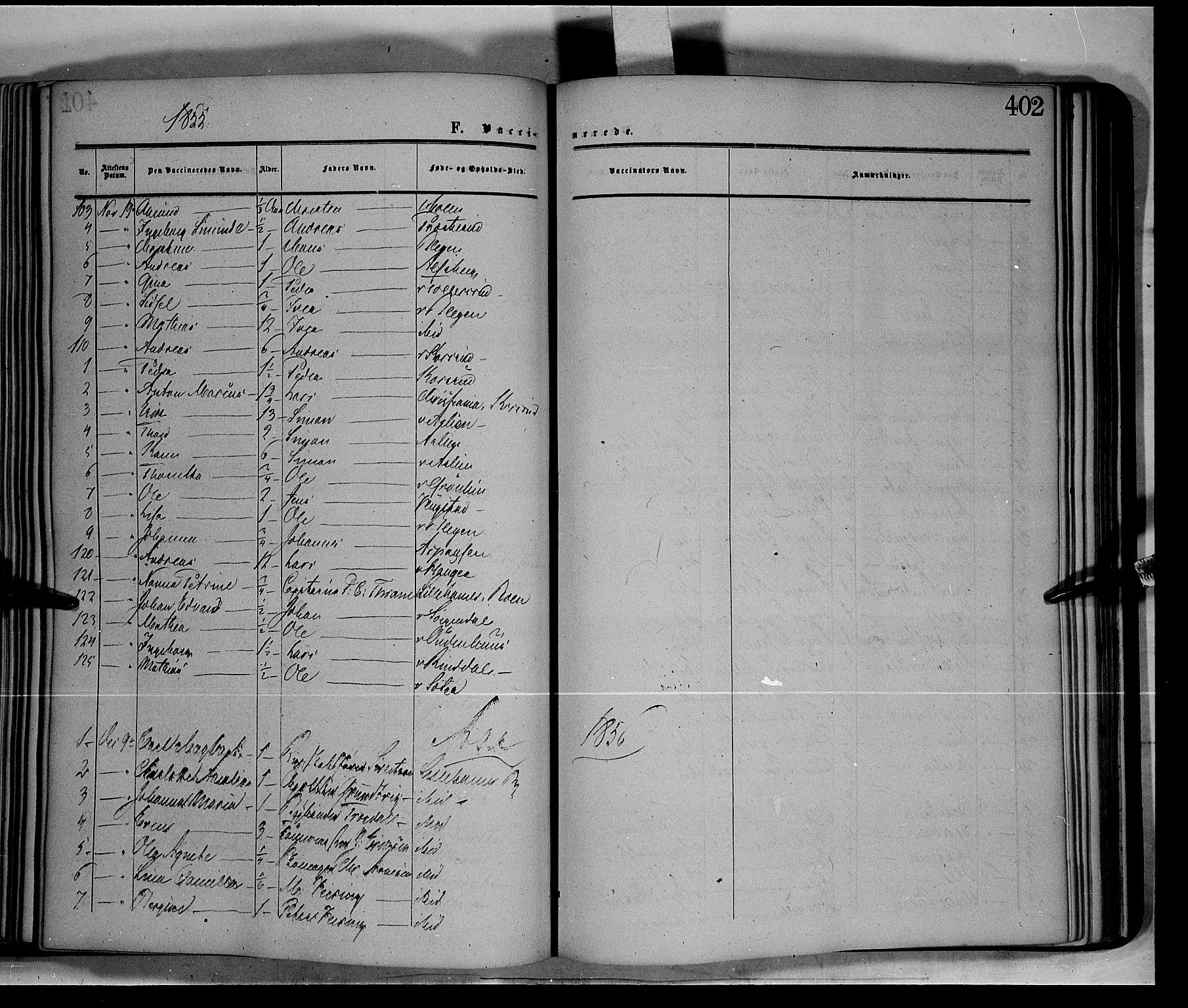 SAH, Fåberg prestekontor, Ministerialbok nr. 6B, 1855-1867, s. 402