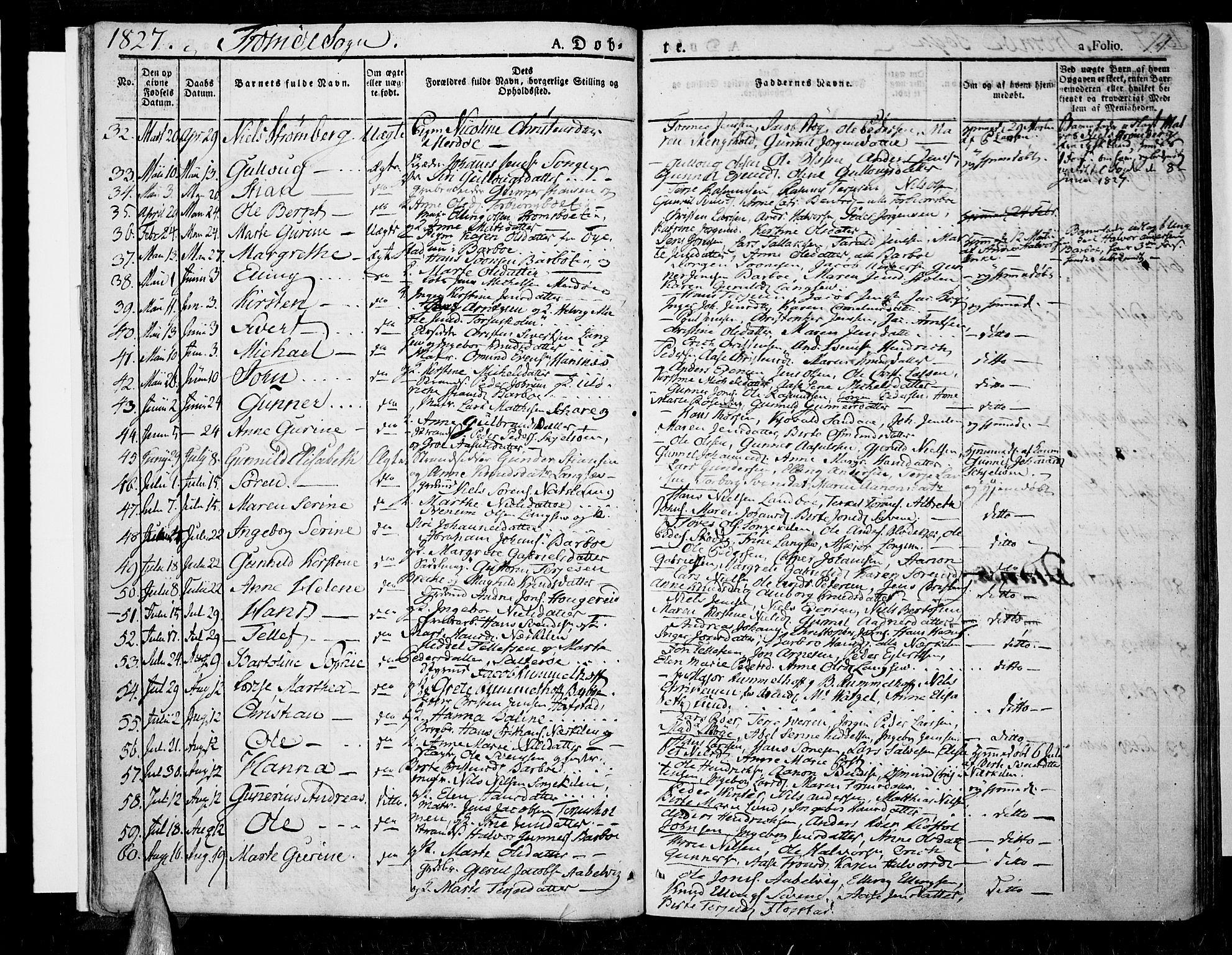 SAK, Tromøy sokneprestkontor, F/Fa/L0003: Ministerialbok nr. A 3, 1825-1837, s. 14