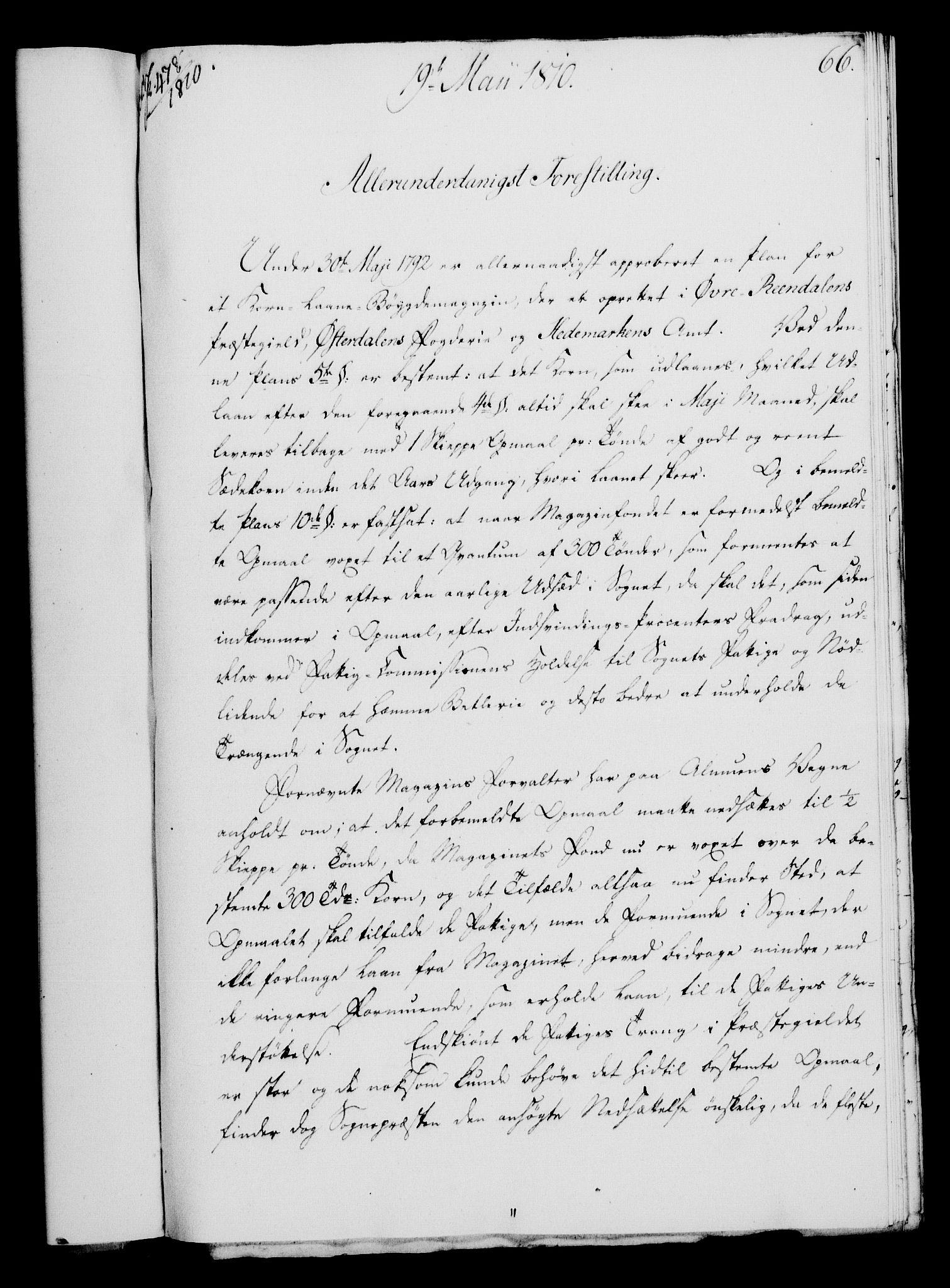 RA, Rentekammeret, Kammerkanselliet, G/Gf/Gfa/L0092: Norsk relasjons- og resolusjonsprotokoll (merket RK 52.92), 1810, s. 257