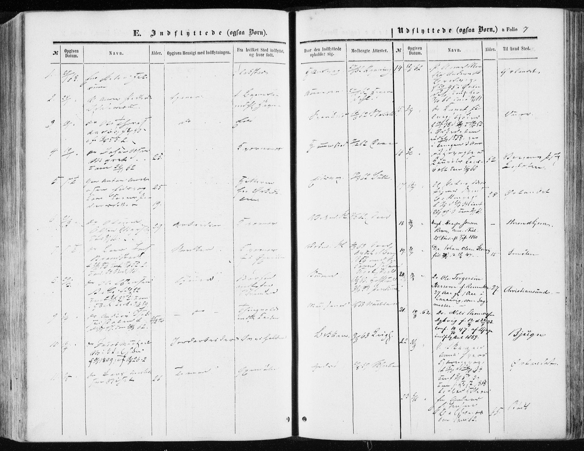 SAT, Ministerialprotokoller, klokkerbøker og fødselsregistre - Sør-Trøndelag, 634/L0531: Ministerialbok nr. 634A07, 1861-1870, s. 7