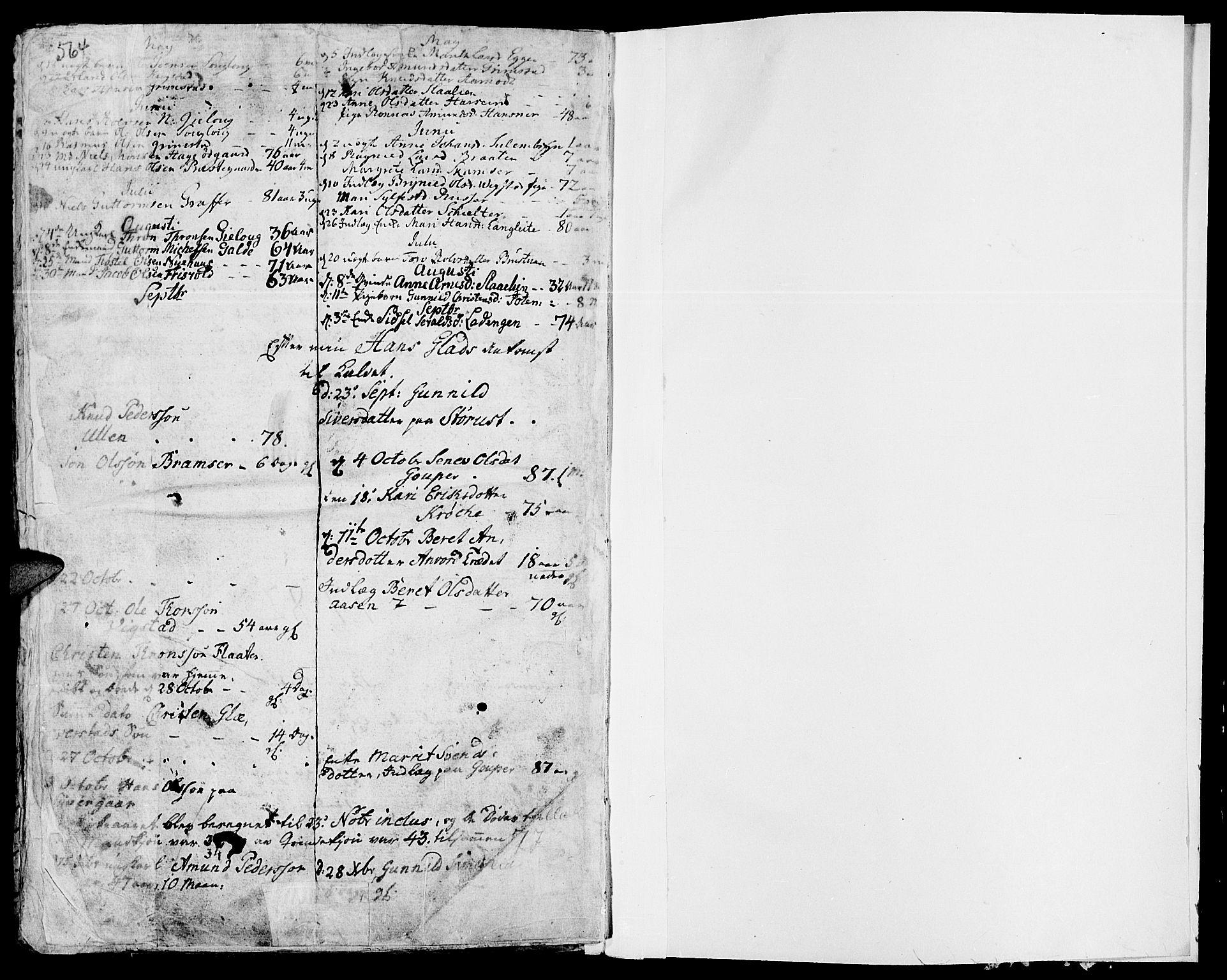 SAH, Lom prestekontor, K/L0002: Ministerialbok nr. 2, 1749-1801, s. 564-565