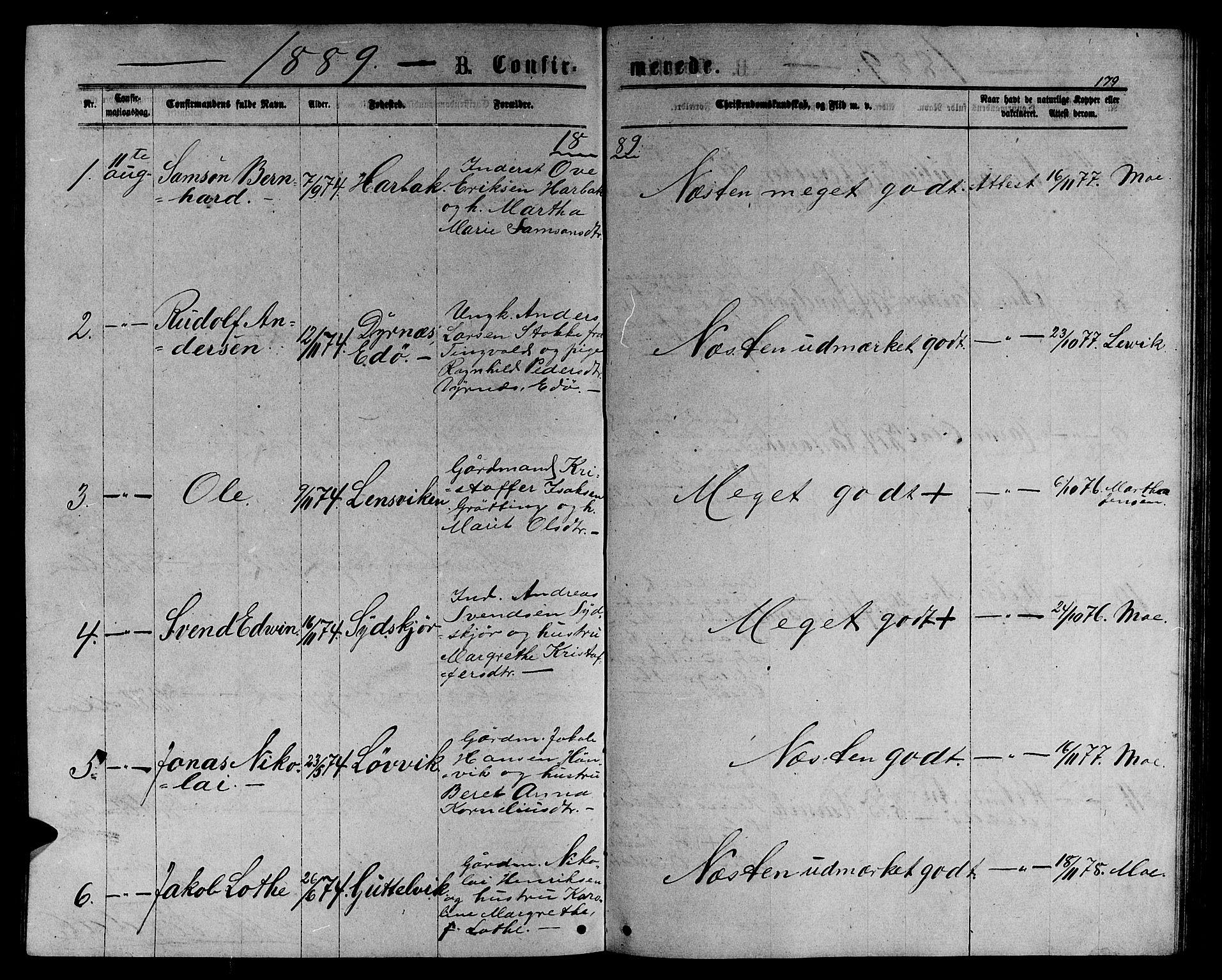 SAT, Ministerialprotokoller, klokkerbøker og fødselsregistre - Sør-Trøndelag, 656/L0695: Klokkerbok nr. 656C01, 1867-1889, s. 179