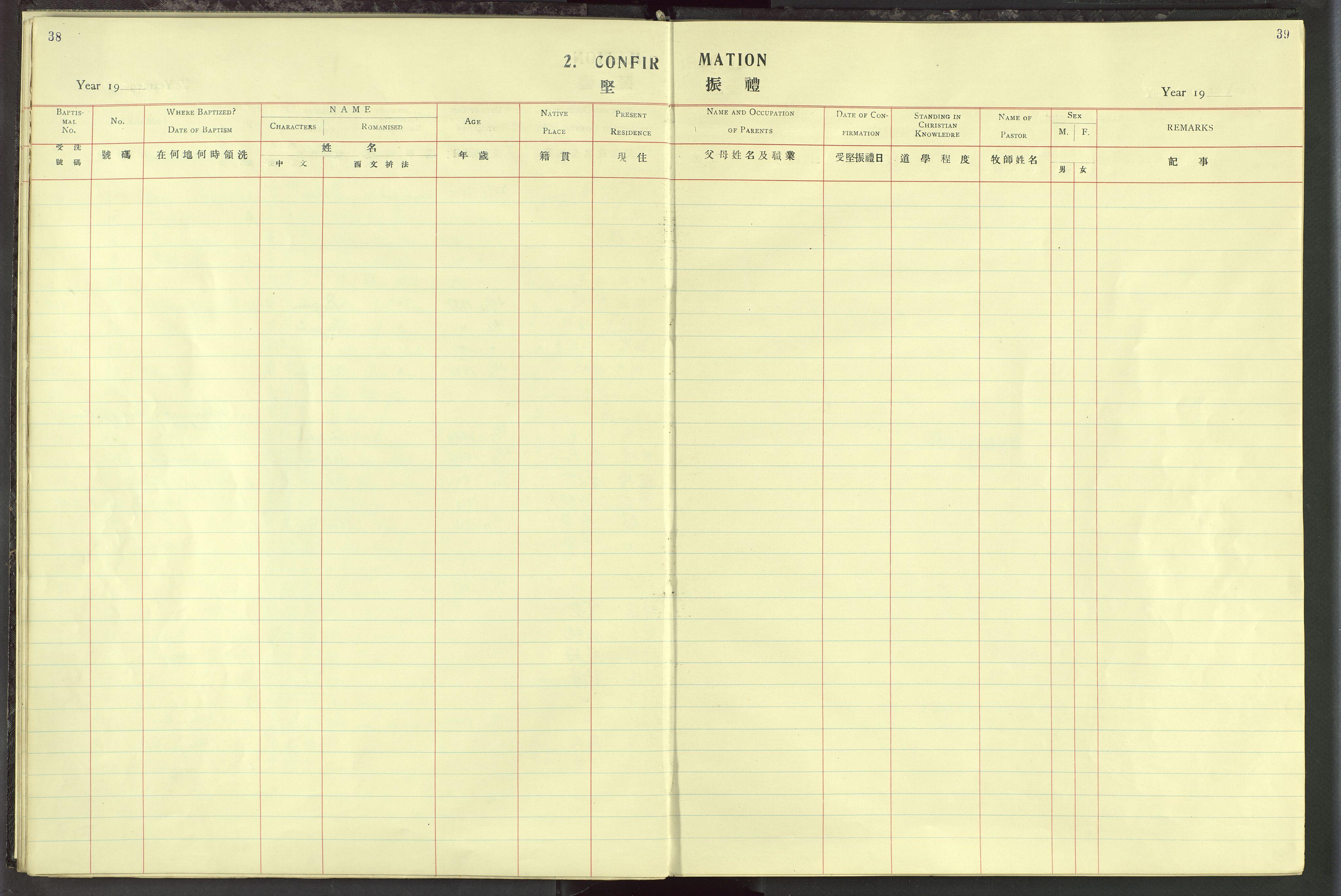 VID, Det Norske Misjonsselskap - utland - Kina (Hunan), Dm/L0019: Ministerialbok nr. 57, 1920-1949, s. 38-39