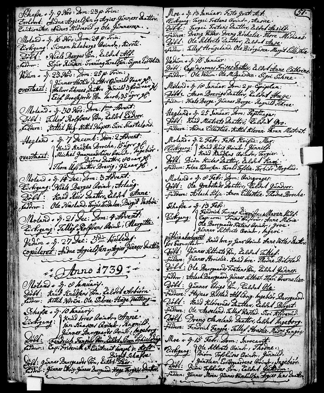 SAKO, Fyresdal kirkebøker, F/Fa/L0001: Ministerialbok nr. I 1, 1724-1748, s. 51